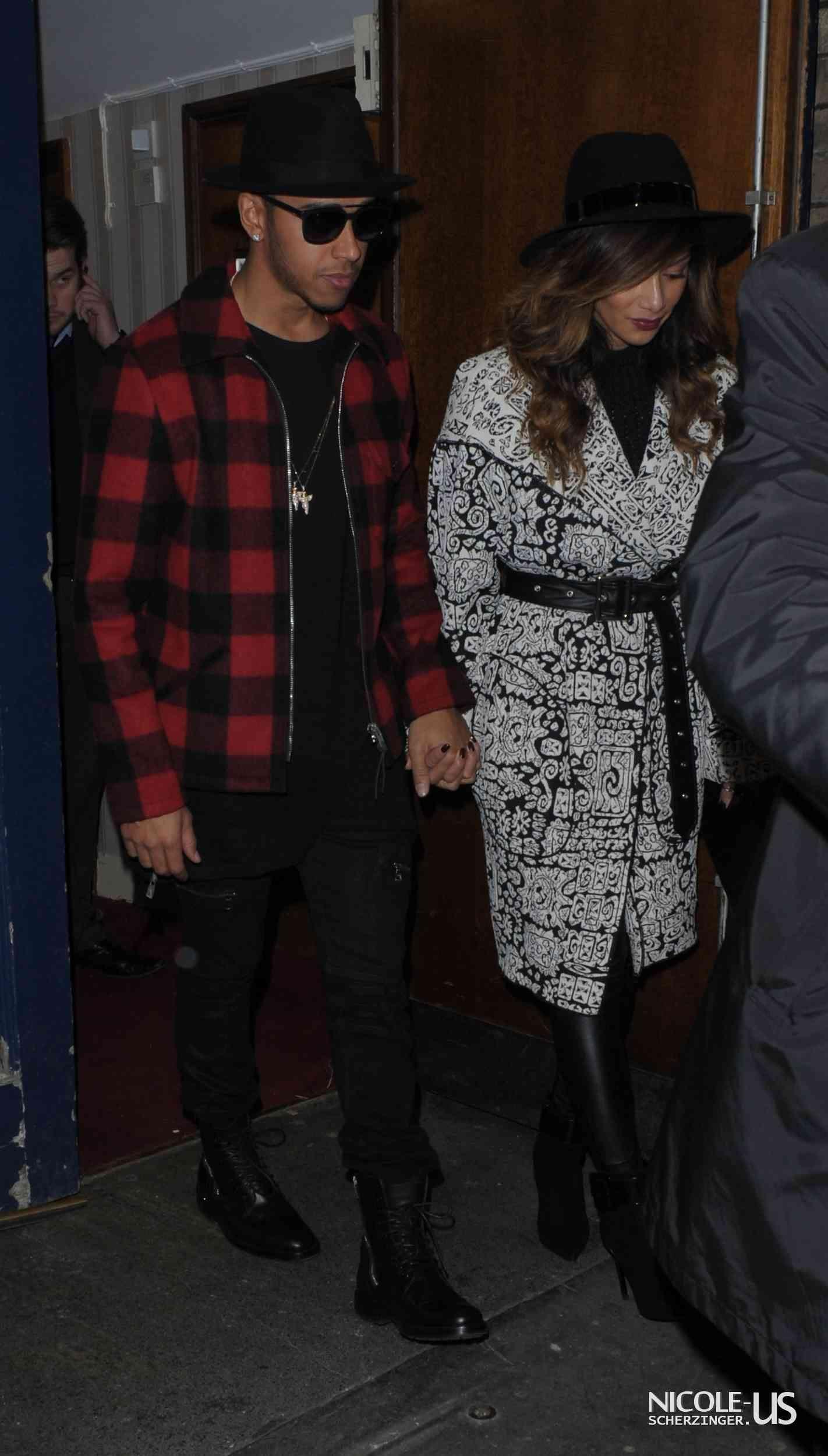 Nicole Scherzinger & Lewis Hamilton leaving the London Palladium Theatre