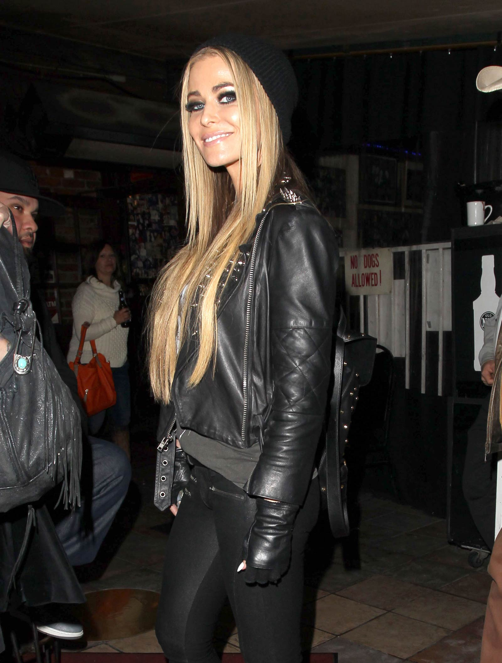 Carmen Electra spotted leaving the Rainbow Room