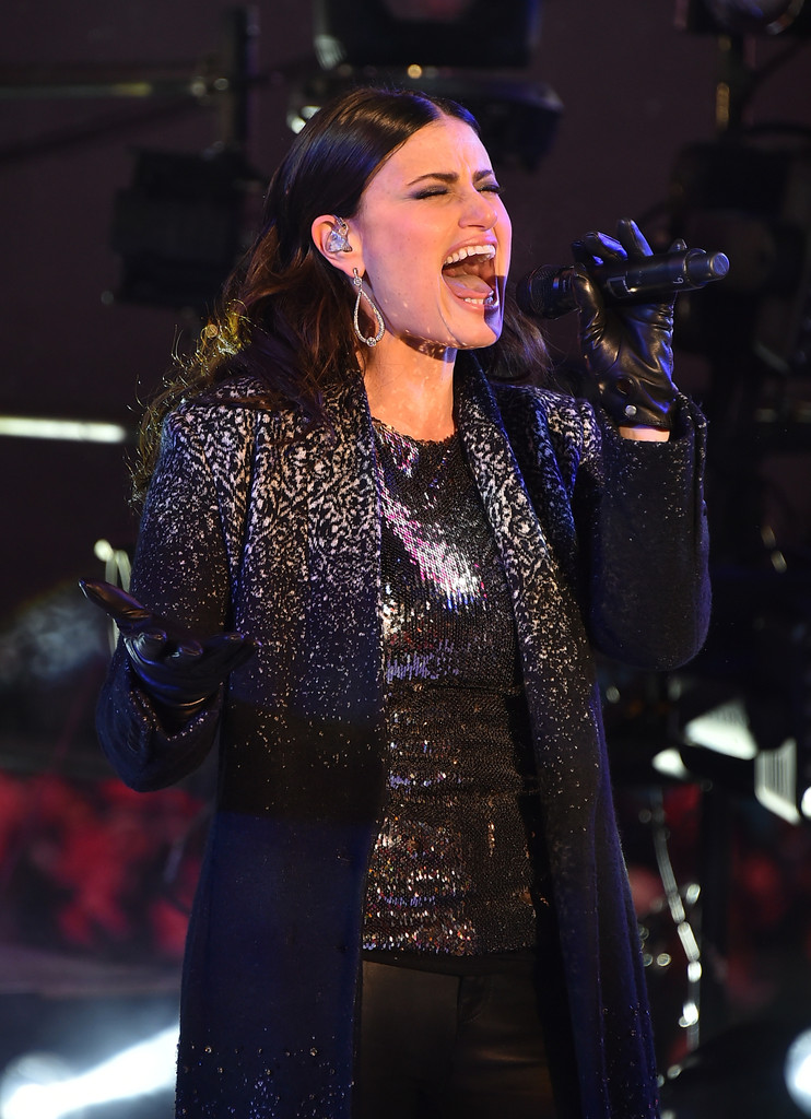 Idina Menzel performs at New Years Eve 2015