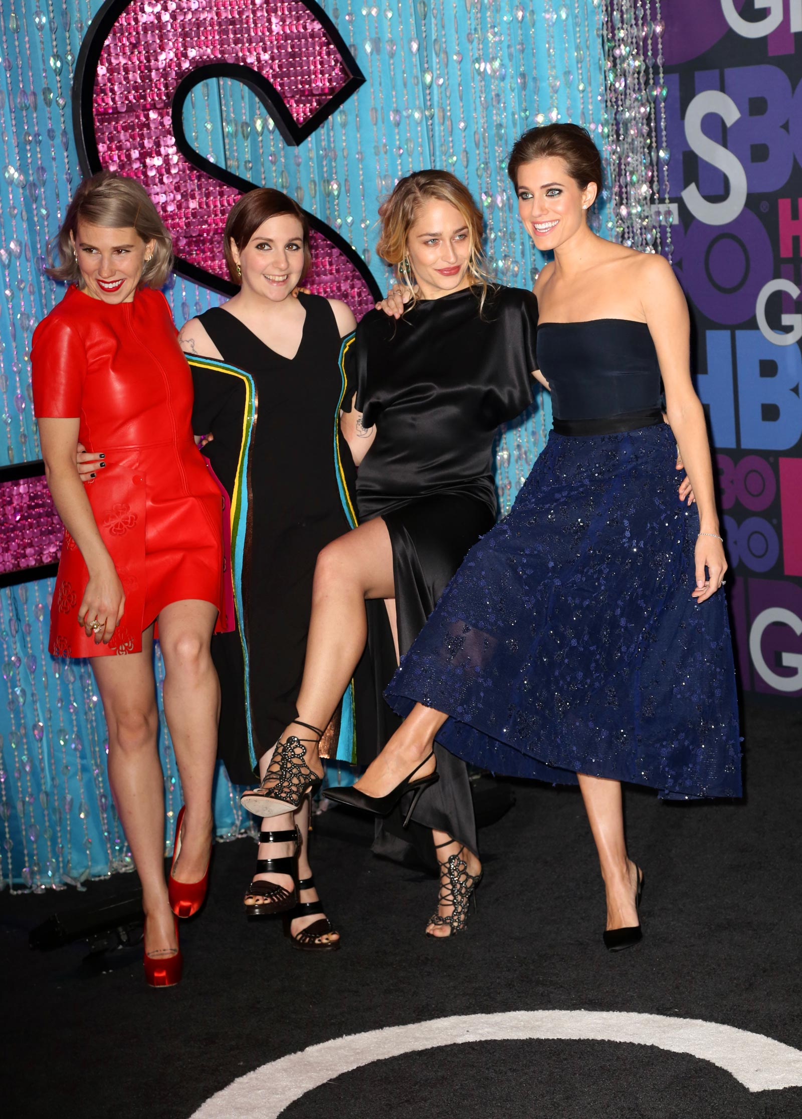 Zosia Mamet attends the fourth season premiere of Girls