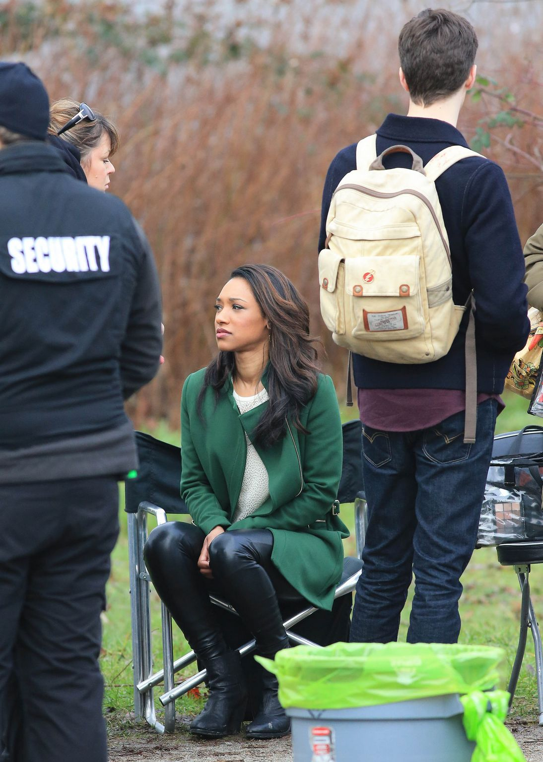 Candice Patton film scenes for The Flash