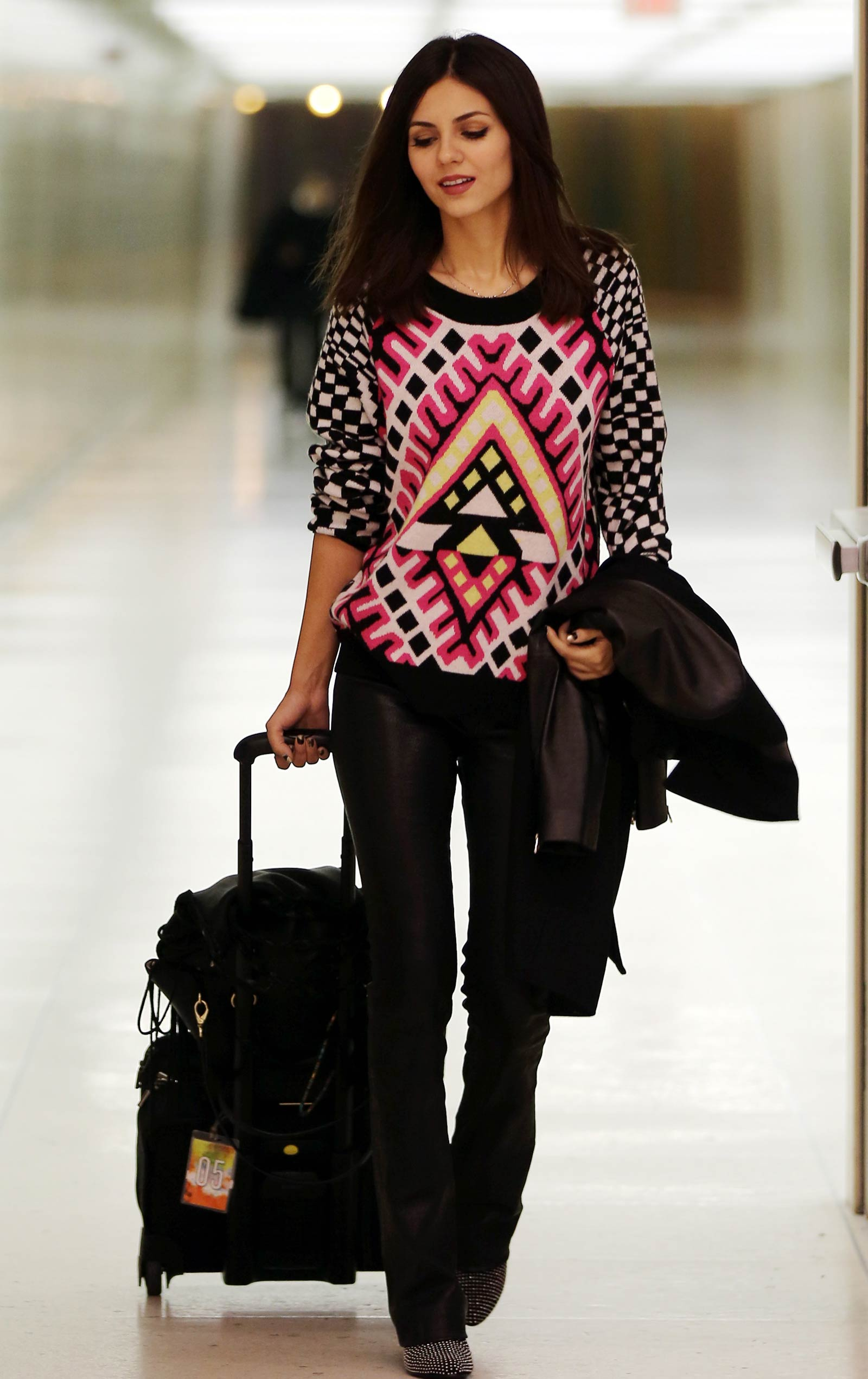 Victoria Justice at LAX airport arrival
