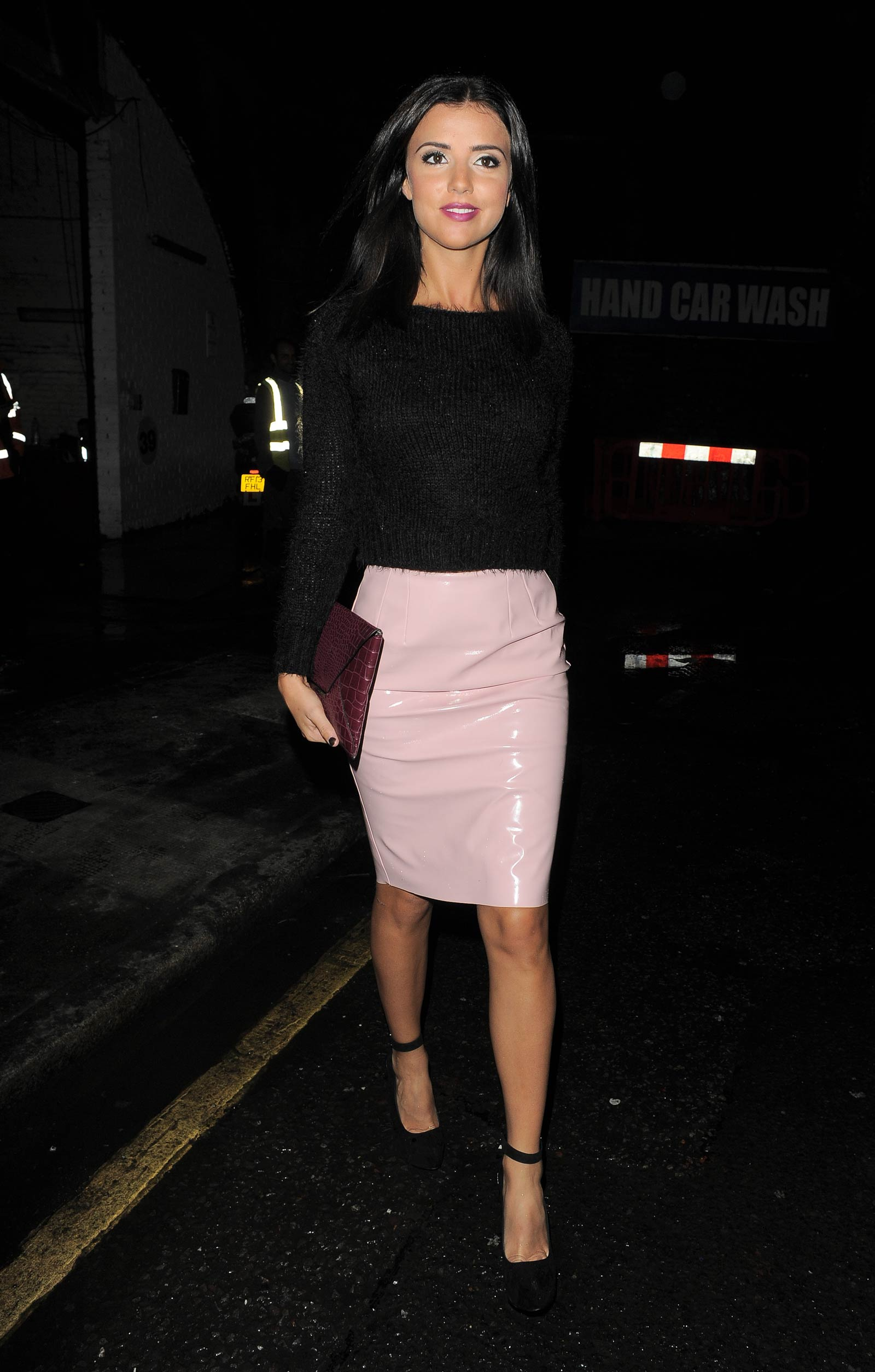 Lucy Mecklenburgh out in London
