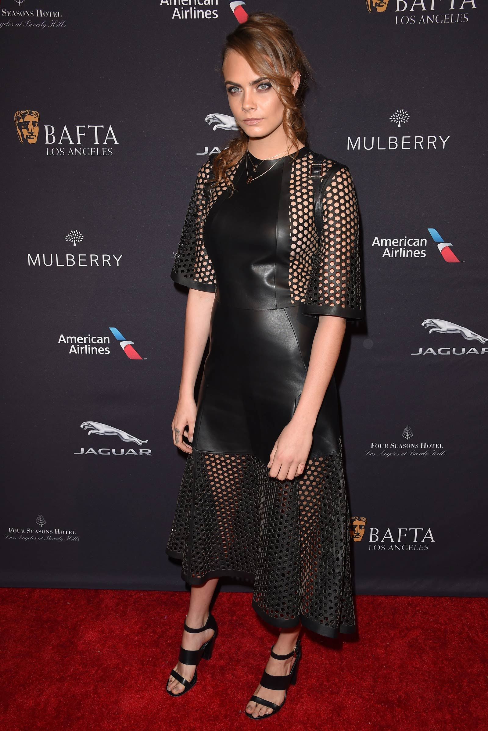 Cara Delevingne attends the BAFTA Los Angeles Tea Party