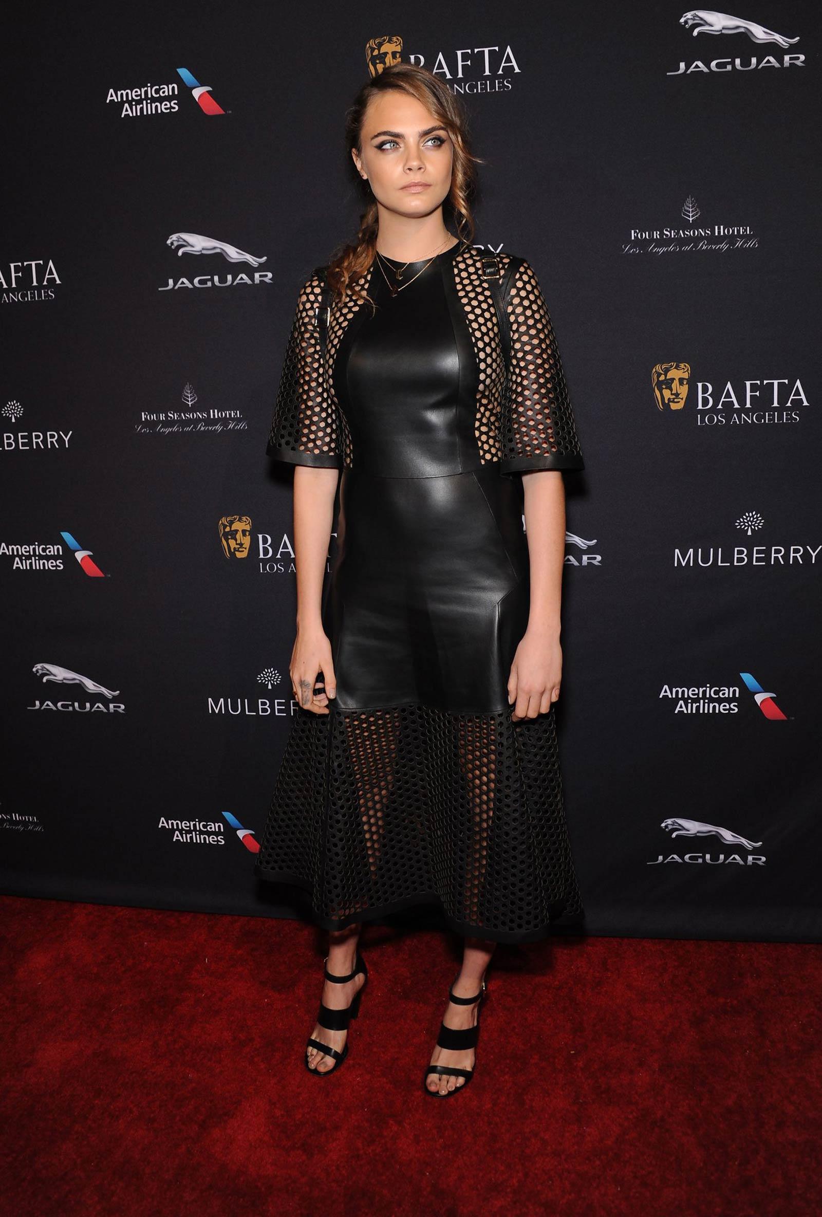 Cara Delevingne attends the BAFTA Los Angeles Tea Party