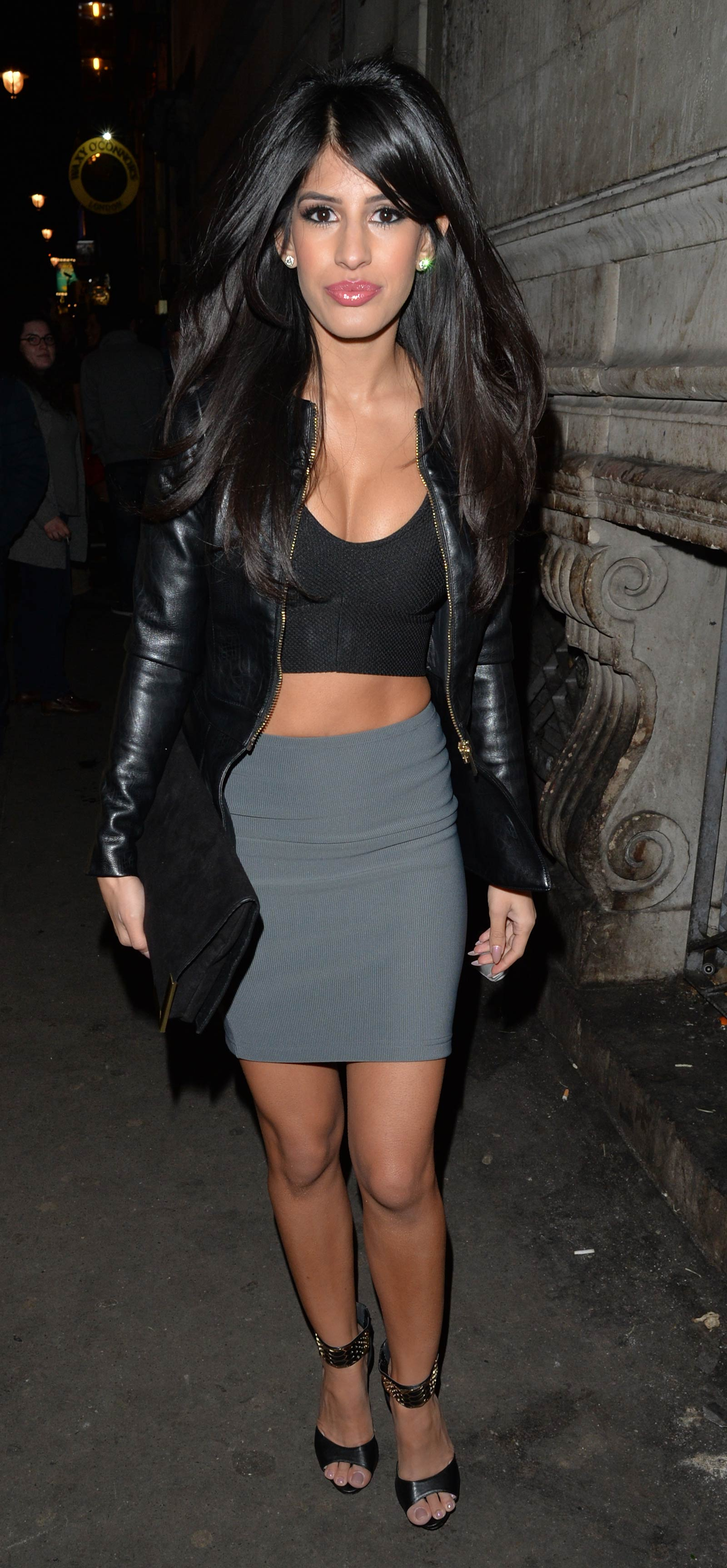 Jasmin Walia seen leaving Dstrkt Club