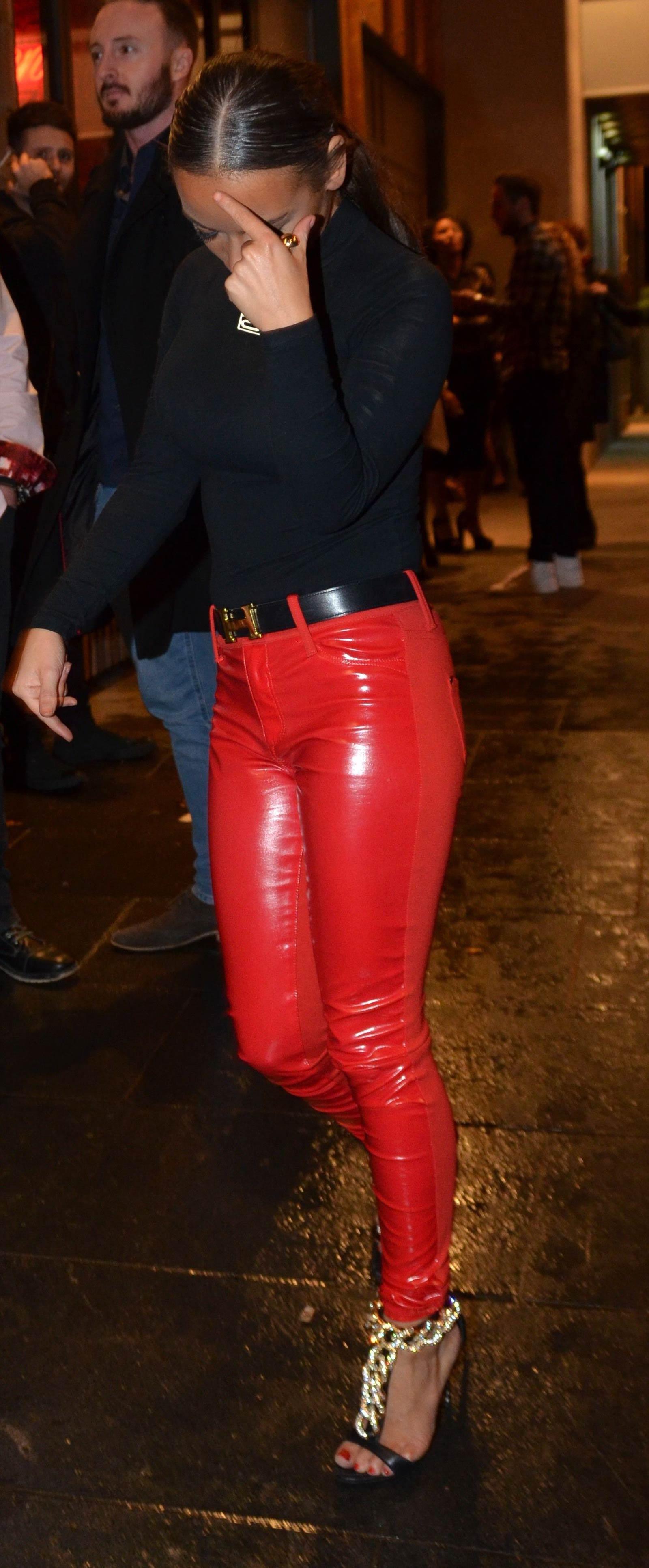 Chelsee Healey leaving The San Carlo Restaurant & The Neighbourhood Bar