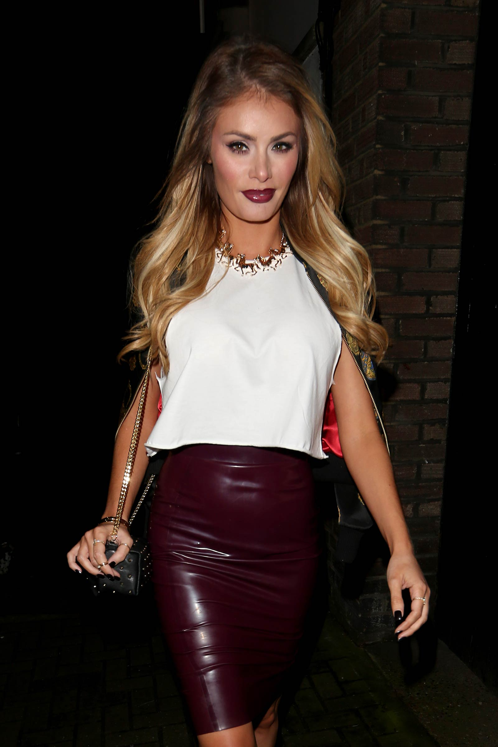Chloe Sims night out in Mayfair