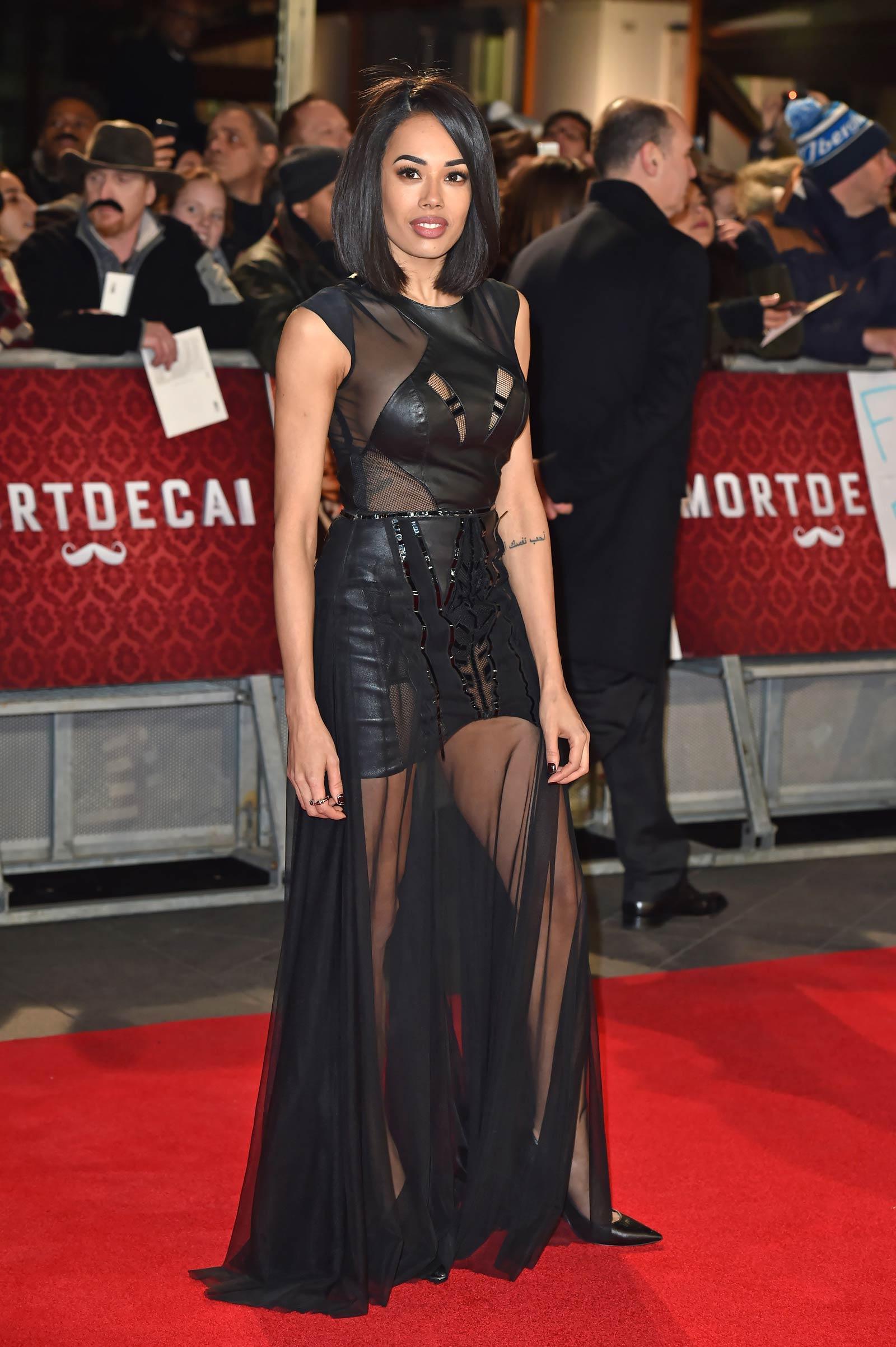 Jade Ewen attends Mortdecai London premiere