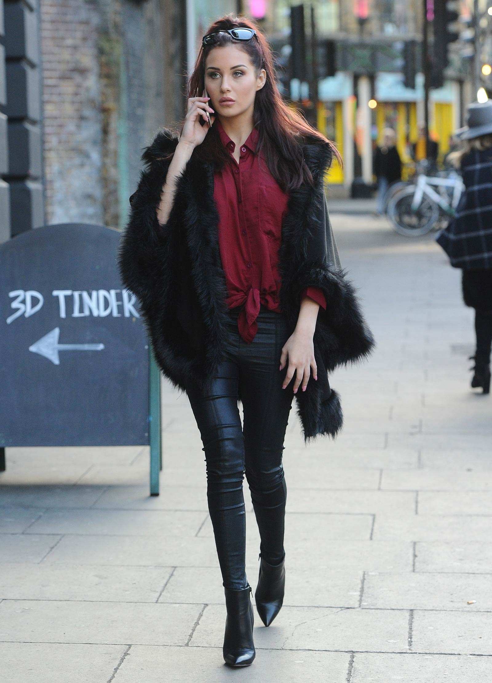 Chloe Goodman out and about in London