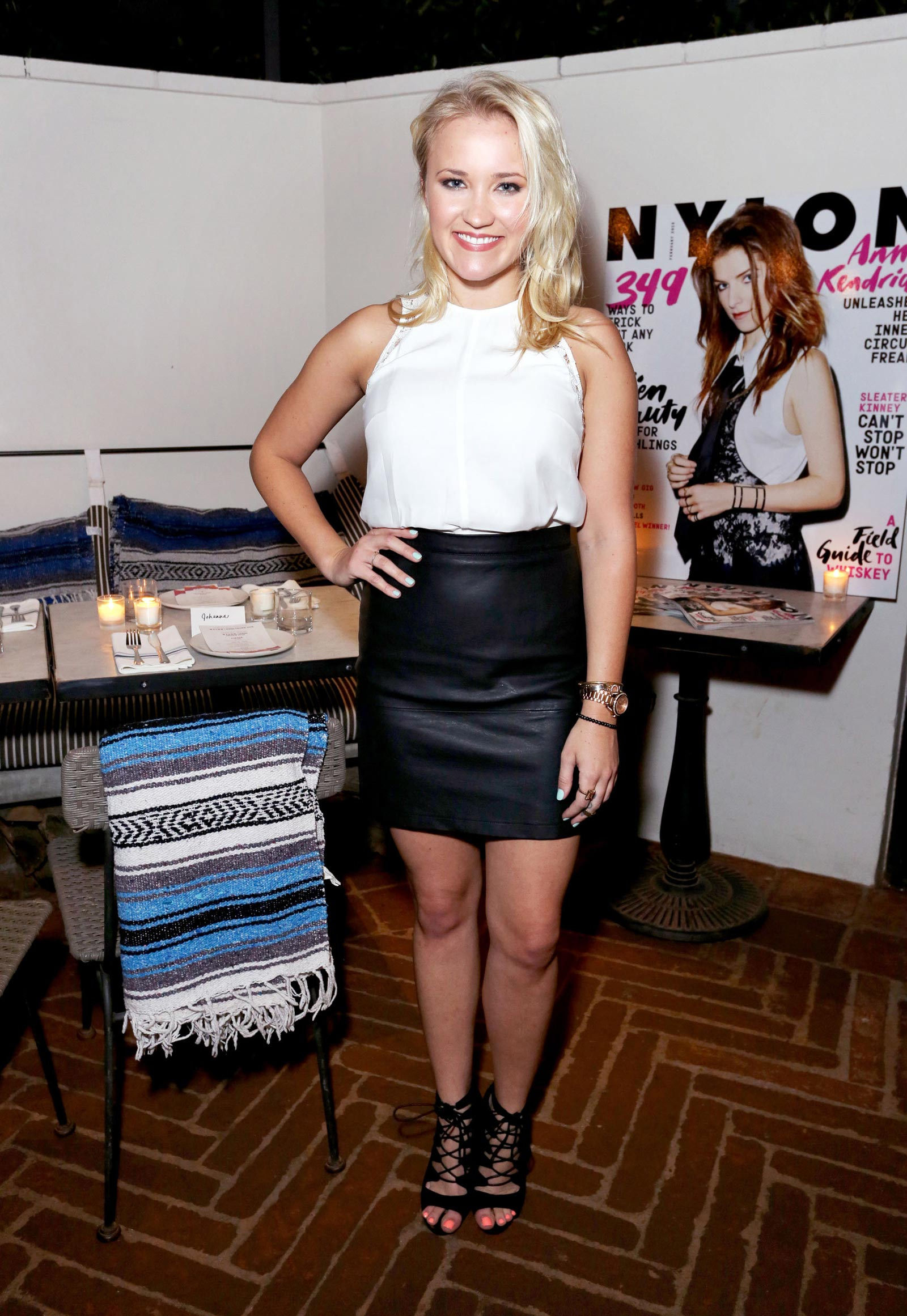 Emily Osment attends NYLON Celebrates Anna Kendrick's February Cover Anna Kendrick