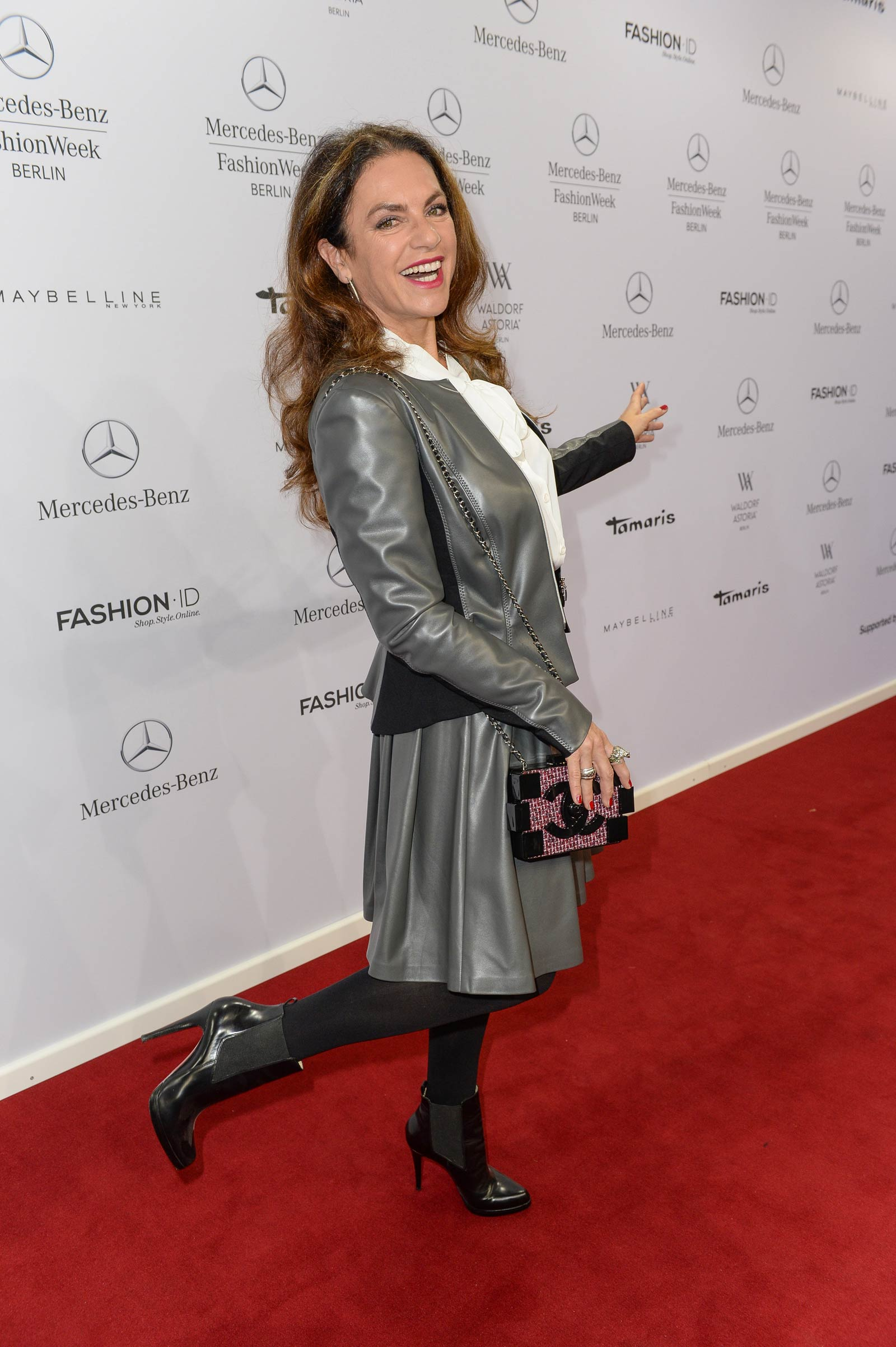 Christine Neubauer attends Merceses Benz Fashion Week
