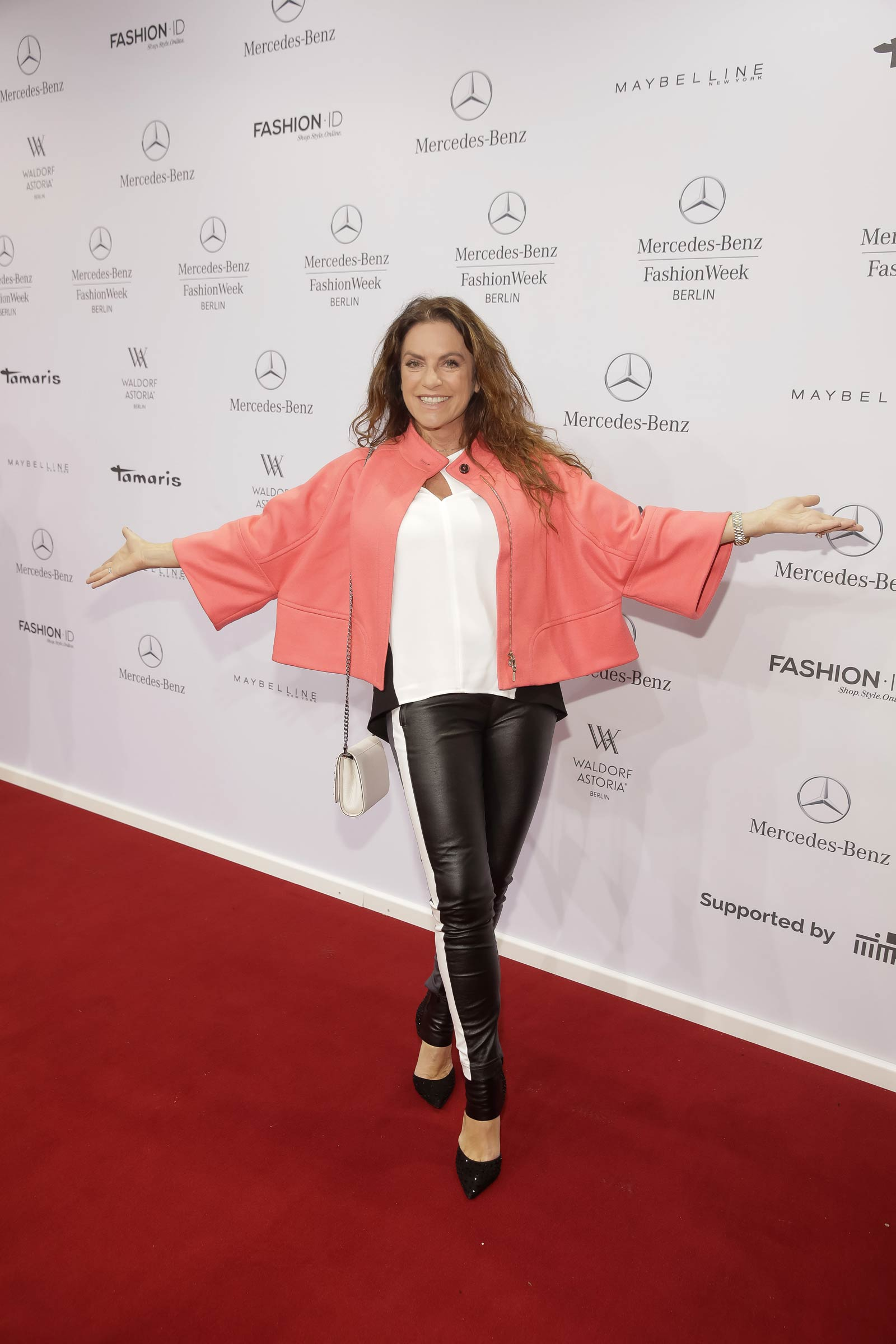 Christine Neubauer attends Merceses Benz Fashion Week