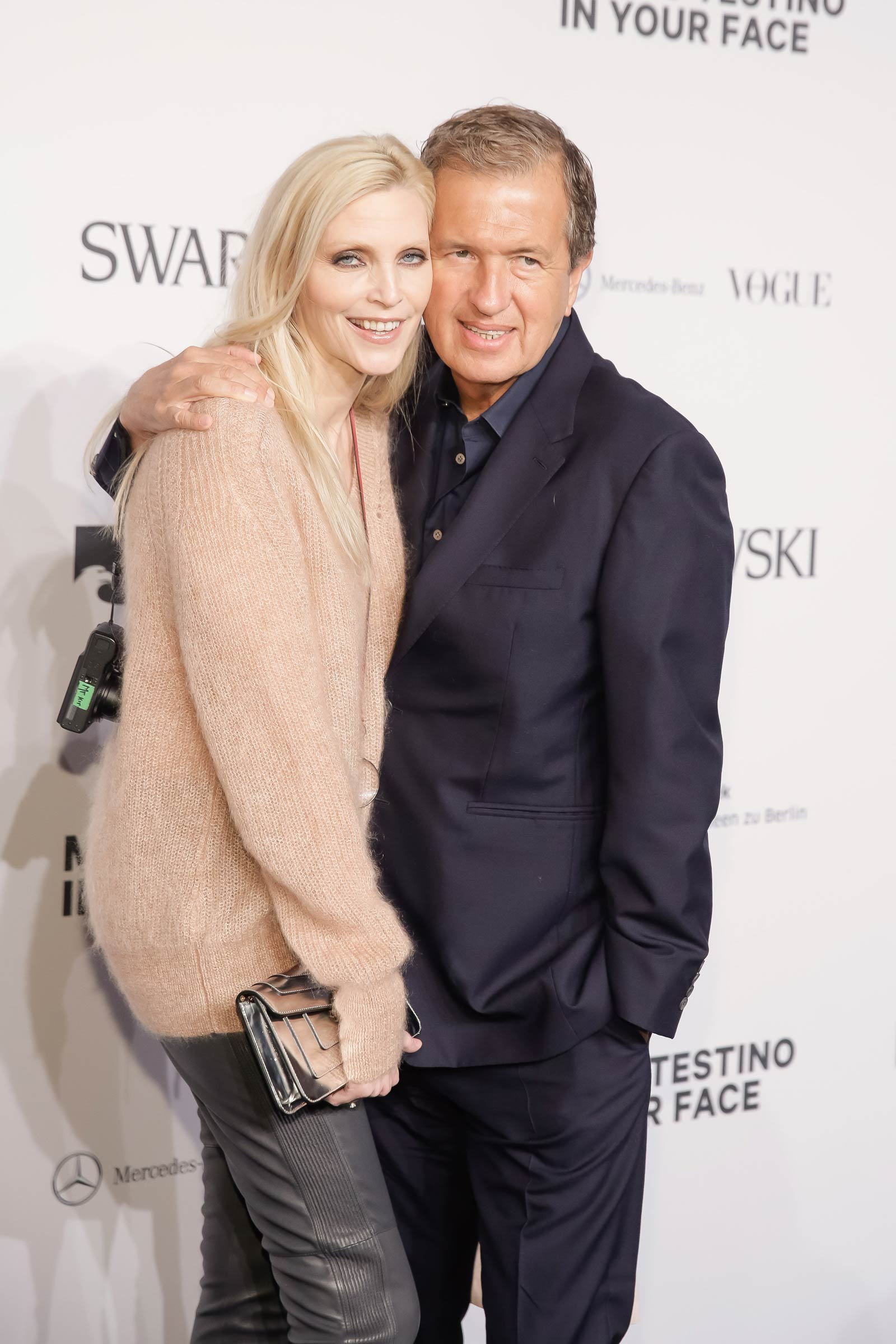Nadja Auermann attends Merceses Benz Fashion Week