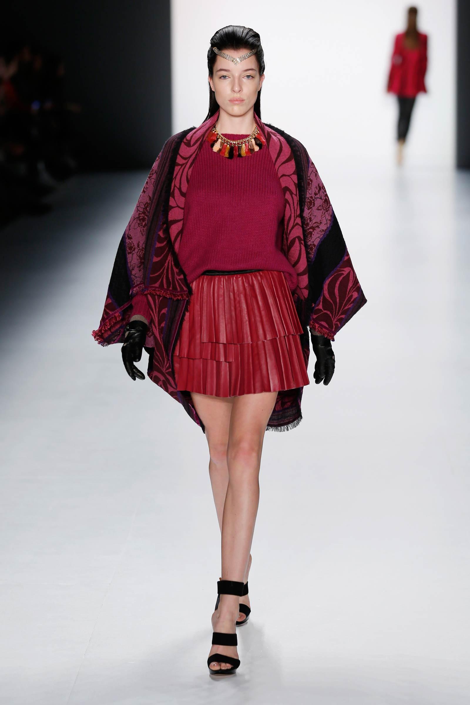 Models on the catwalk at Mercedes Benz Fashion Week