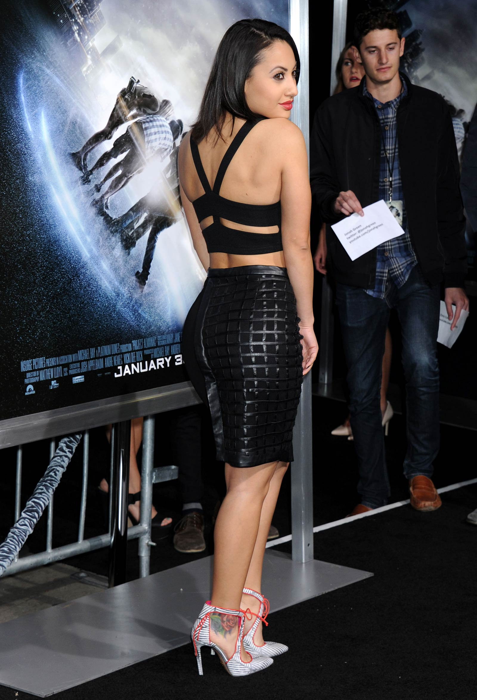 Francia Raisa attends premiere of Project Almanac