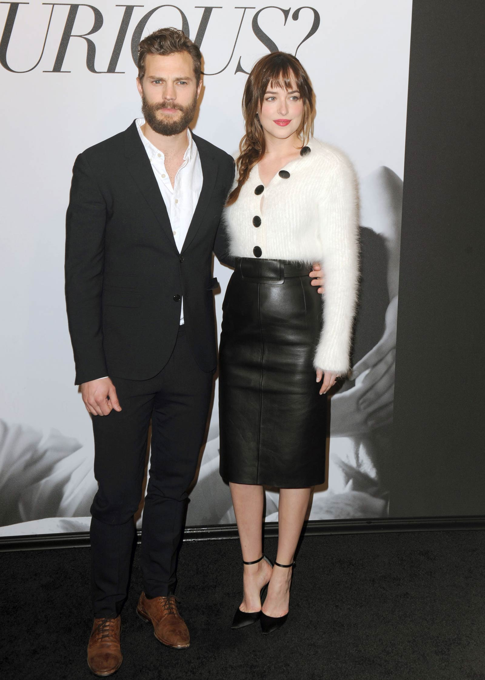 Dakota Johnson attends the Fifty Shades Of Grey screening
