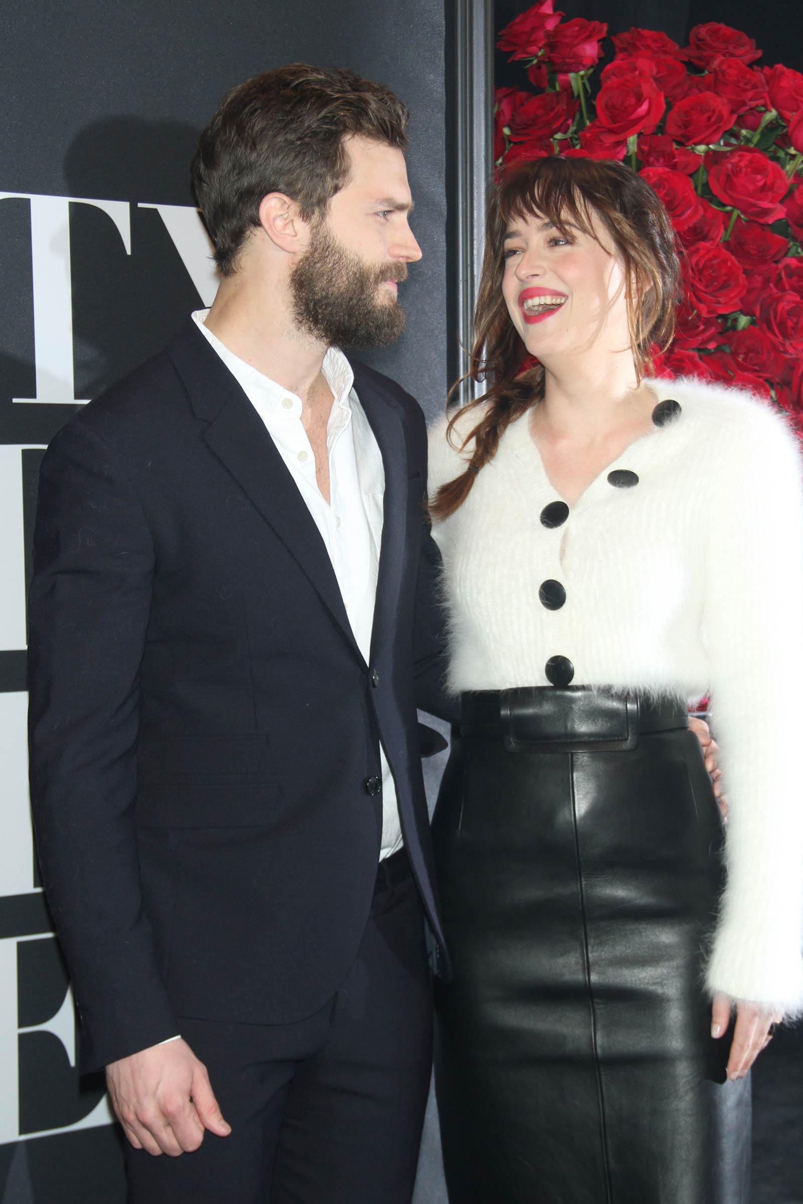 Dakota Johnson attends the Fifty Shades Of Grey screening