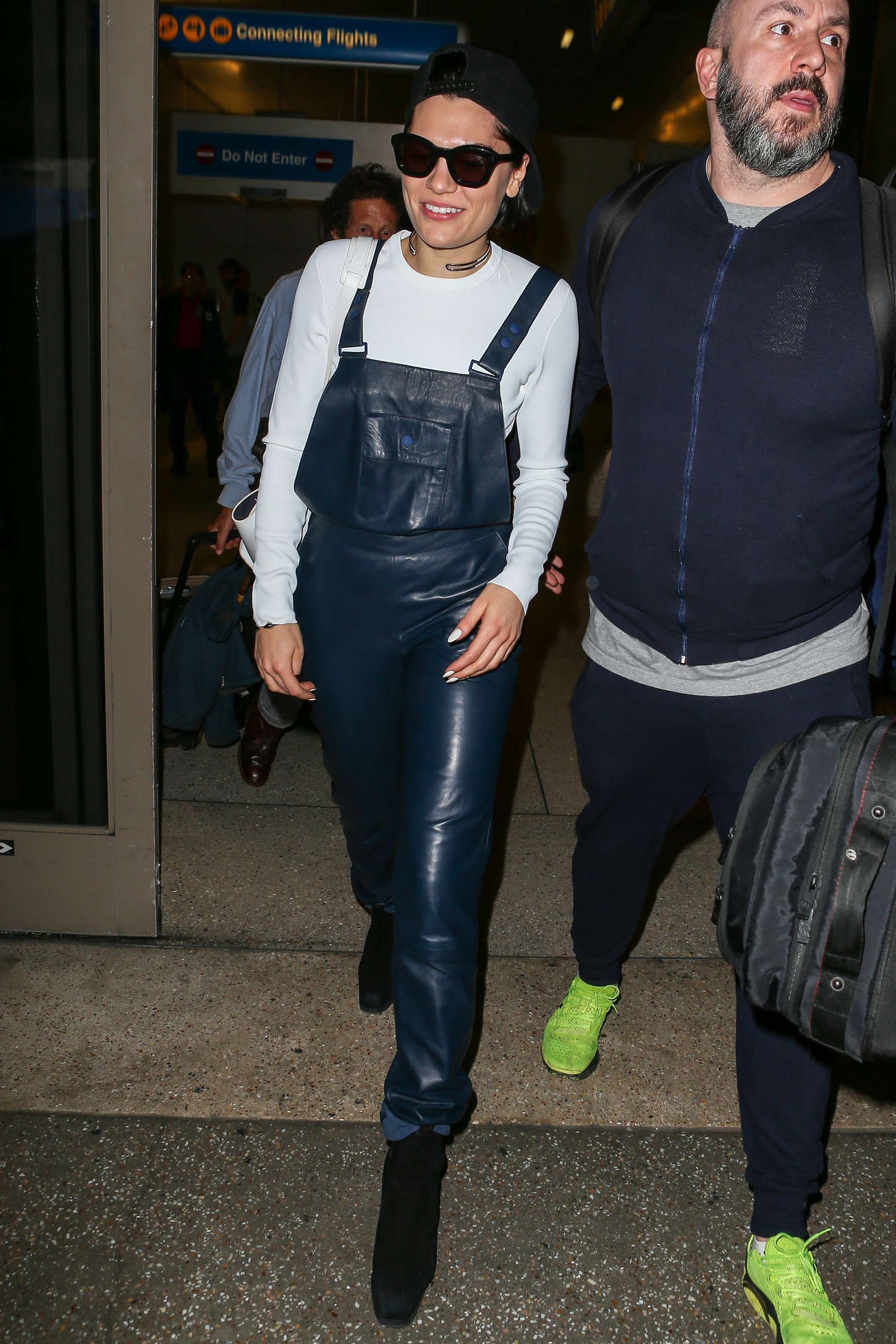 Jessie J arriving at LAX airport in Los Angeles