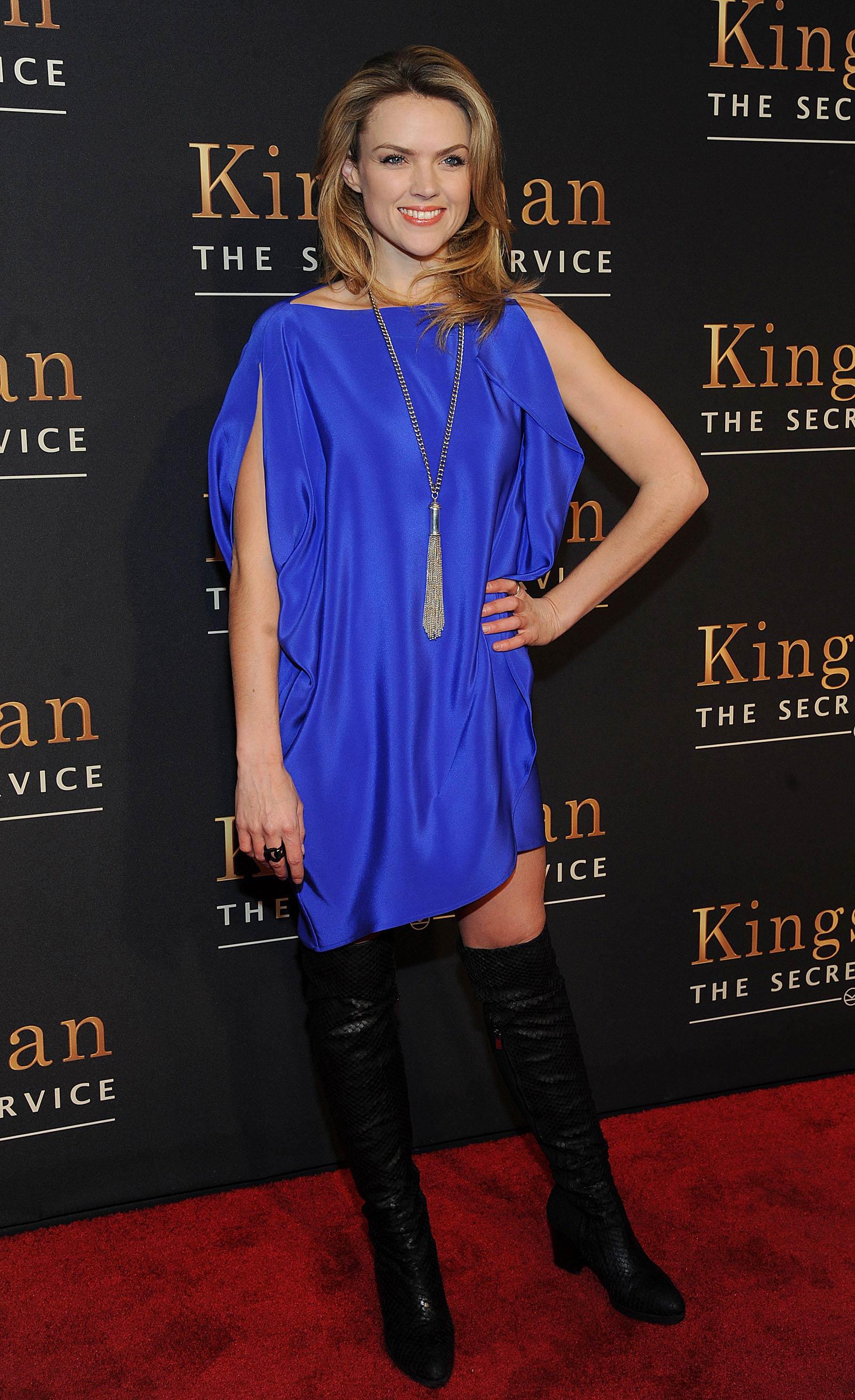 Erin Richards attends Kingsman The Secret Service premiere