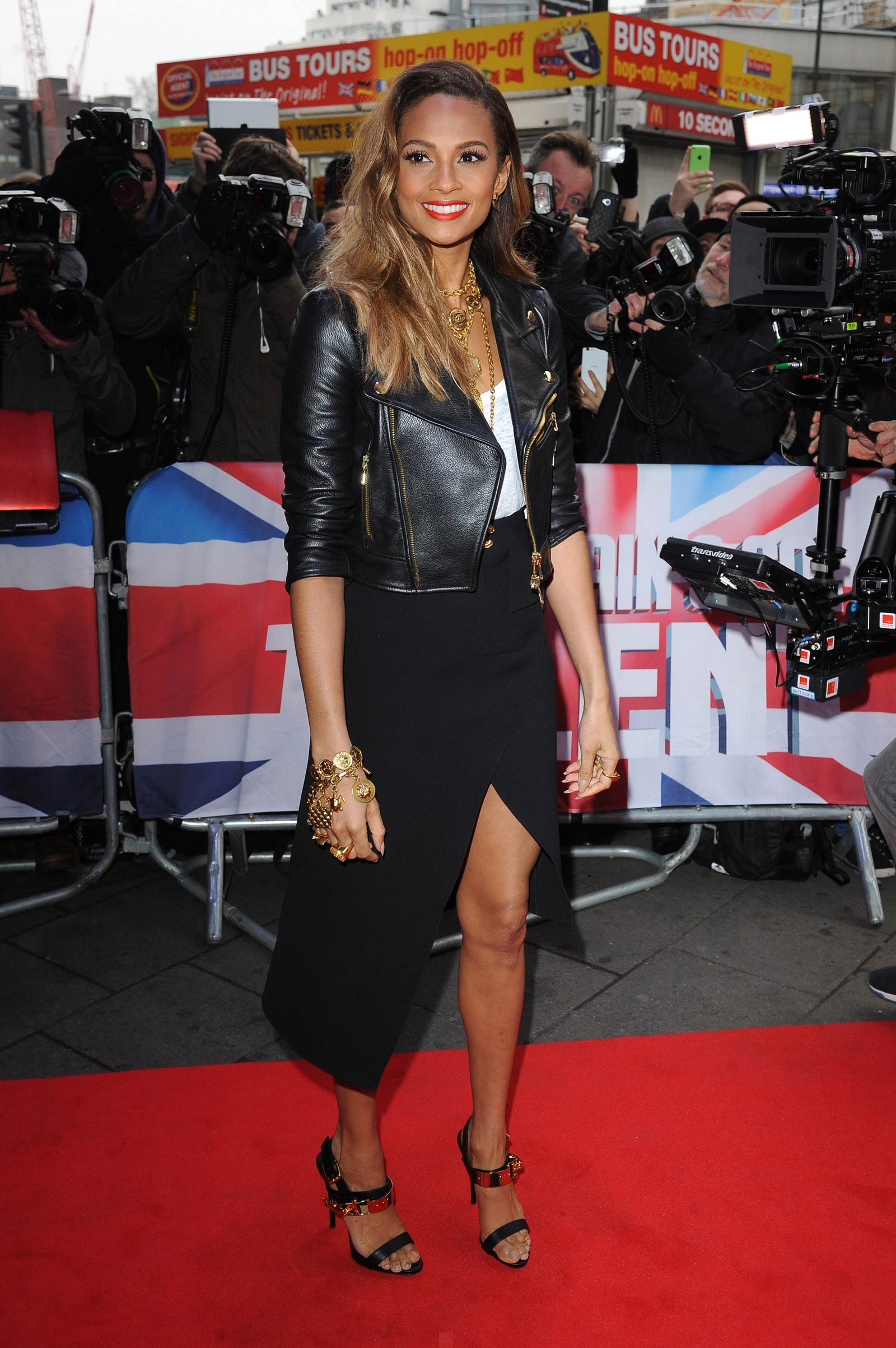 Alesha Dixon attends Britain Got Talent Auditions