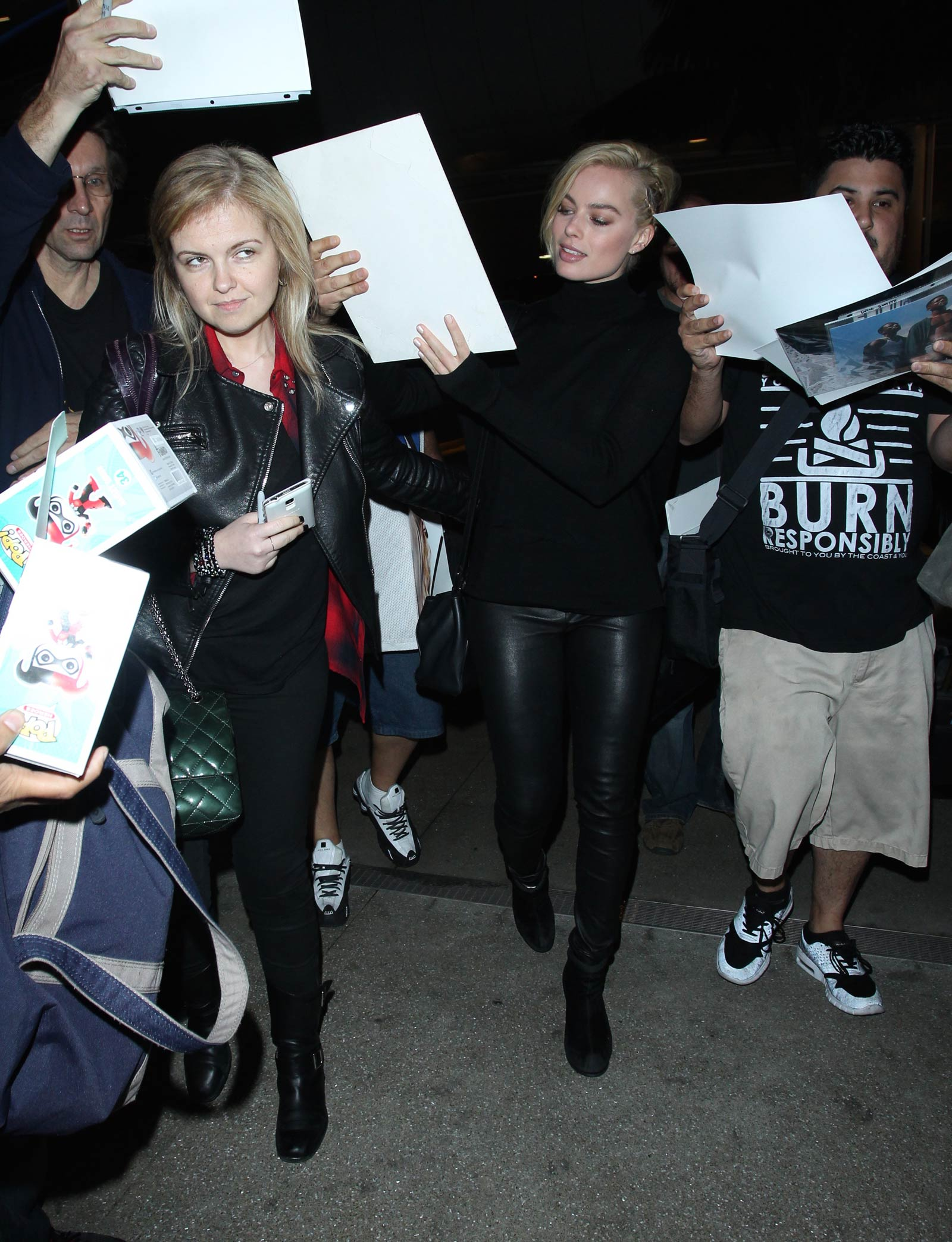 Margot Robbie LAX departure candids in Los Angeles
