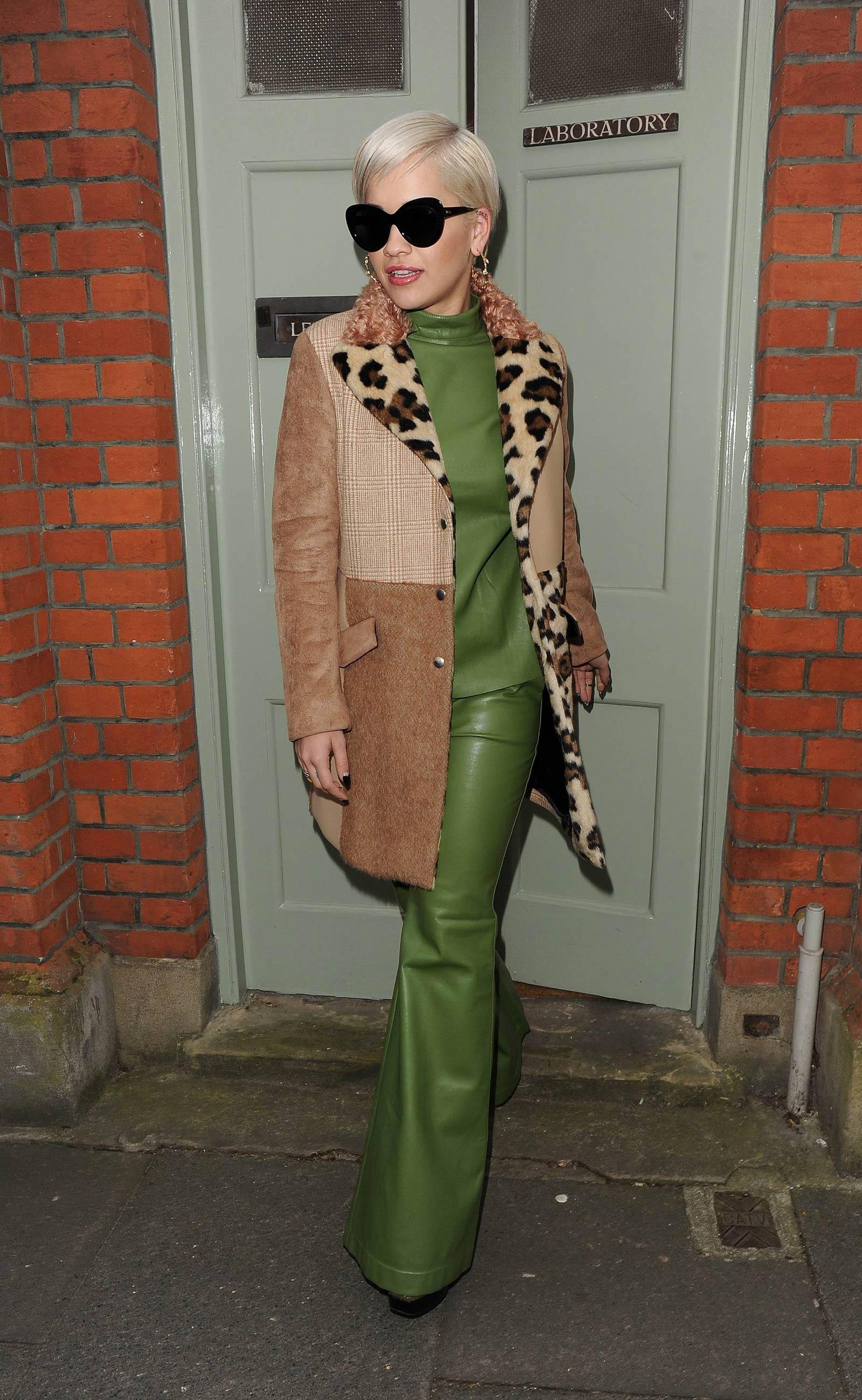 Rita Ora leaving a studio in London