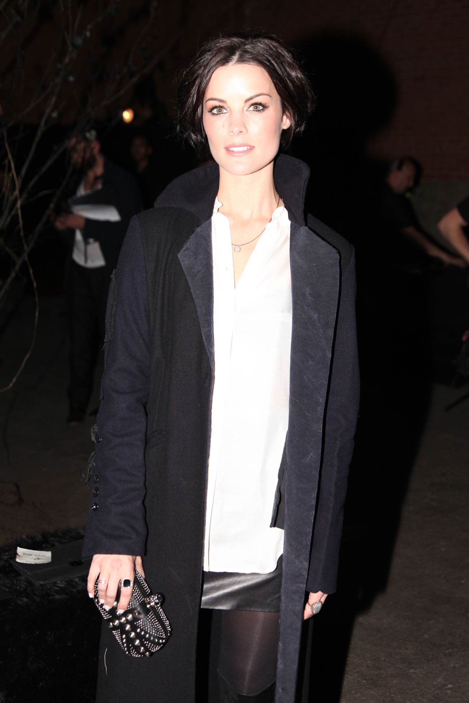 Jaimie Alexander attends Erin Fetherston Fashion Show