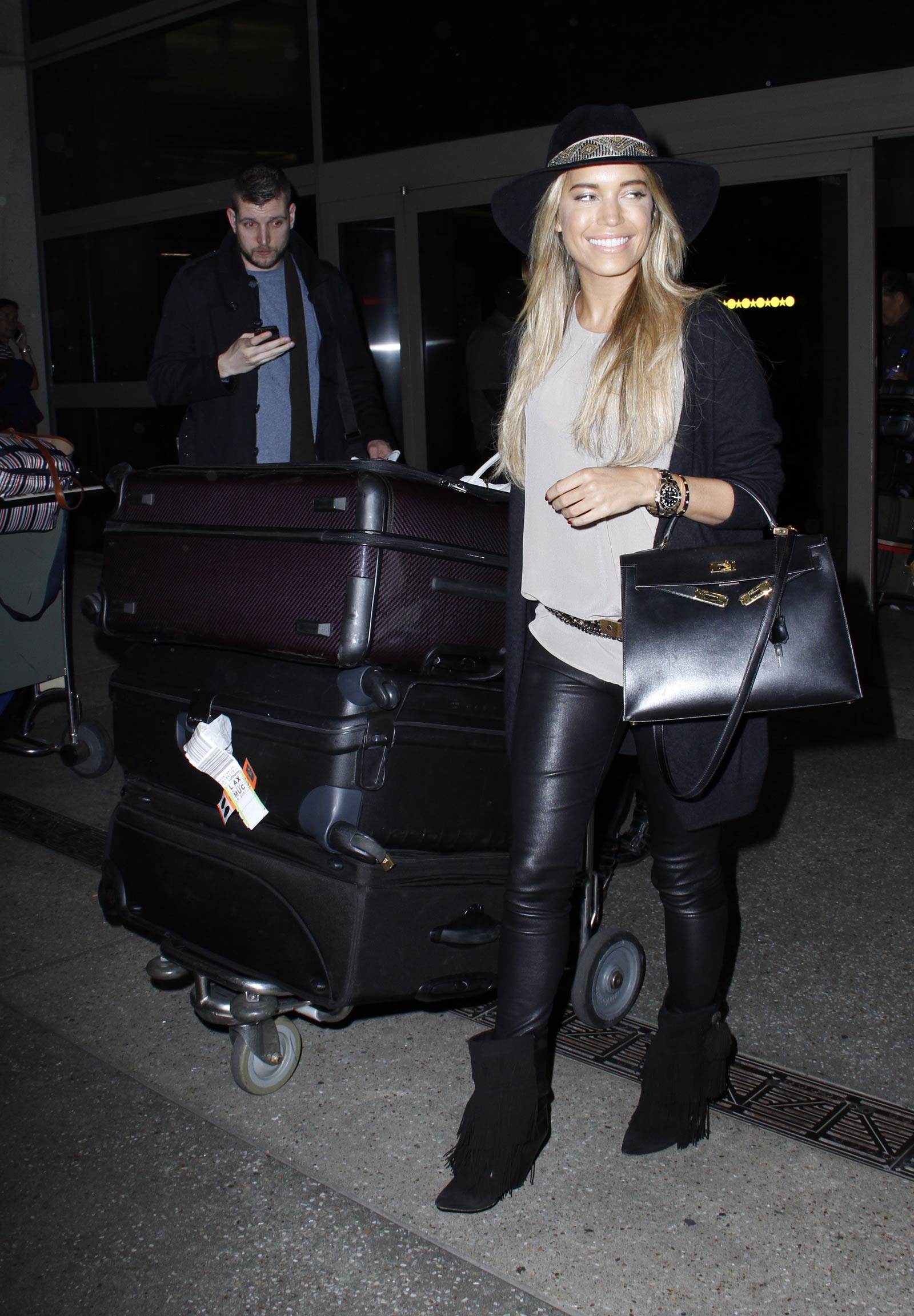 Sylvie Meis is seen at LAX