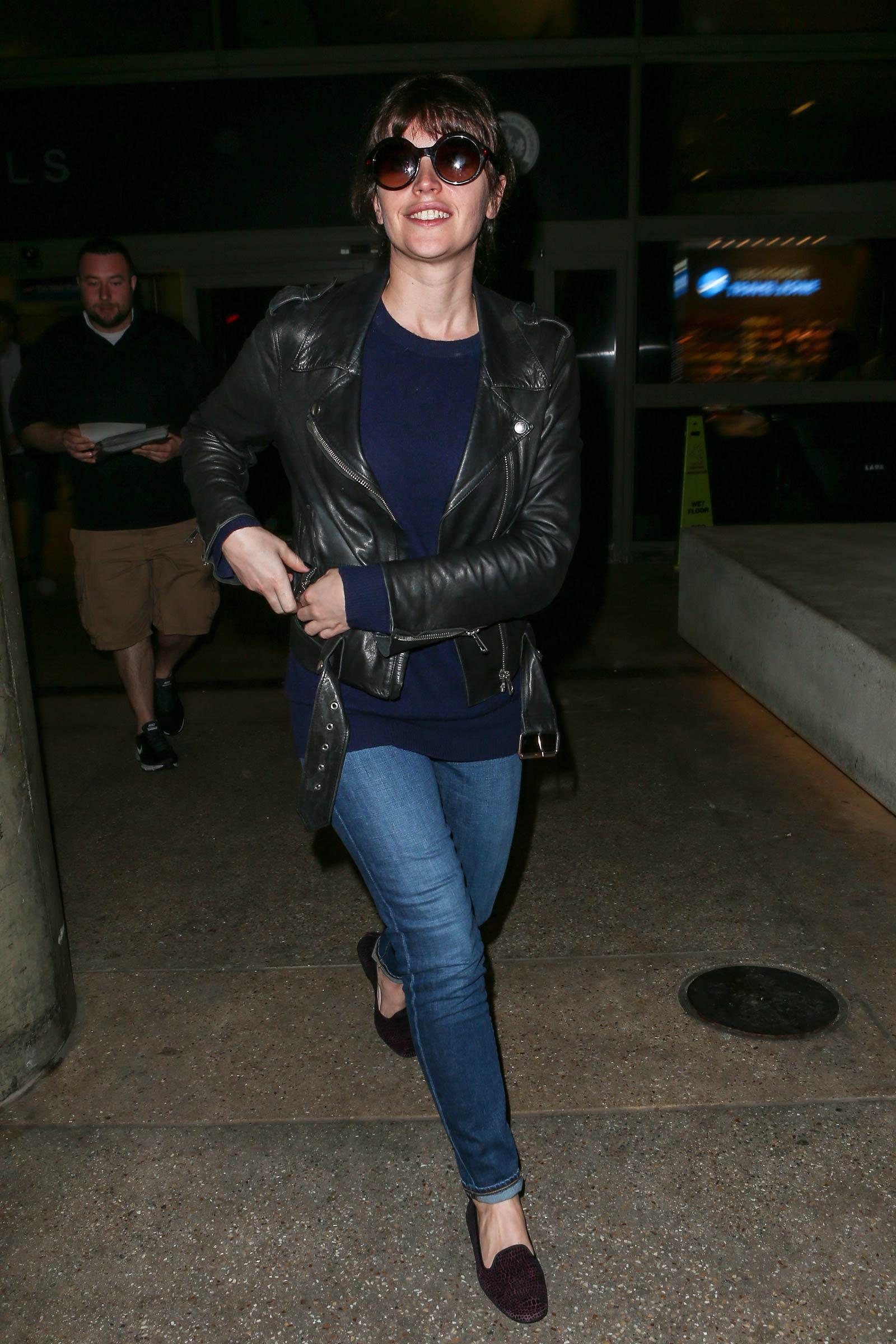 Felicity Jones at LAX airport in LA