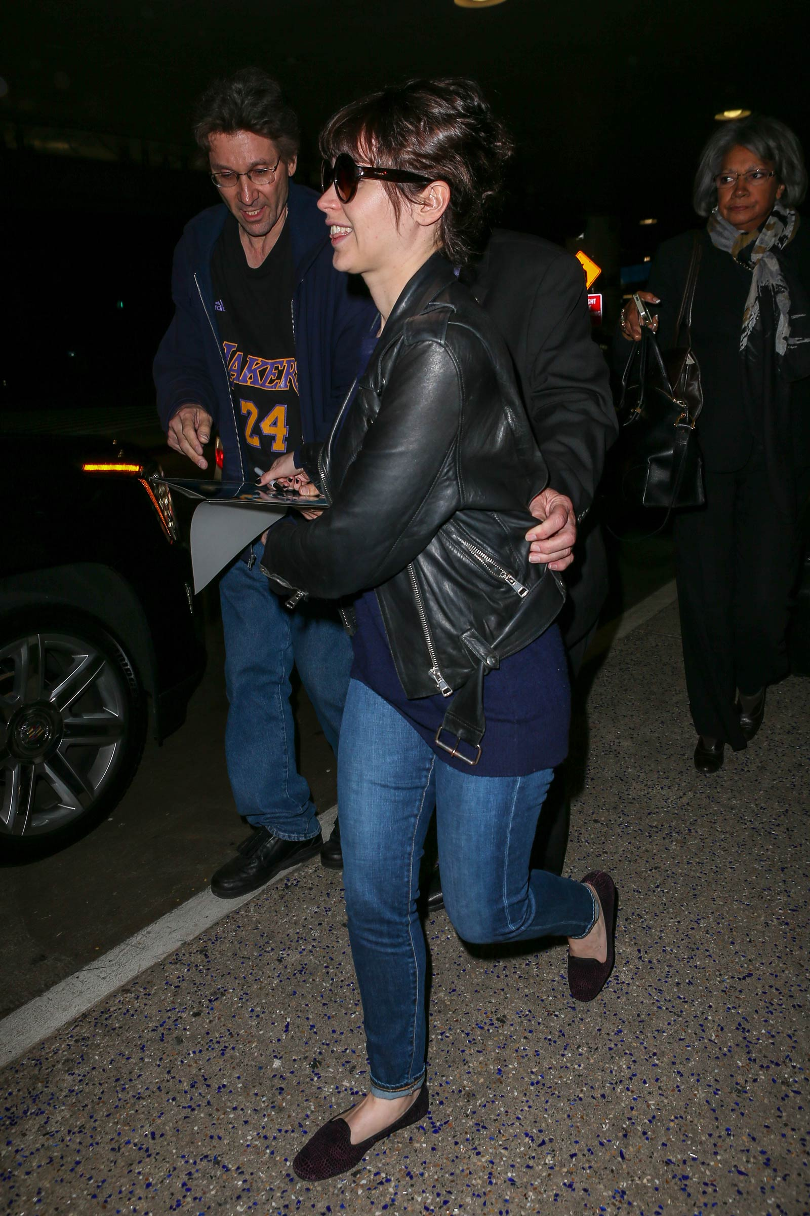 Felicity Jones at LAX airport in LA