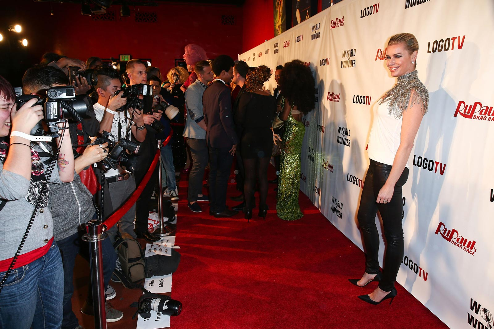 Rebecca Romijn attends the premiere of Logo TV RuPaul Drag Race