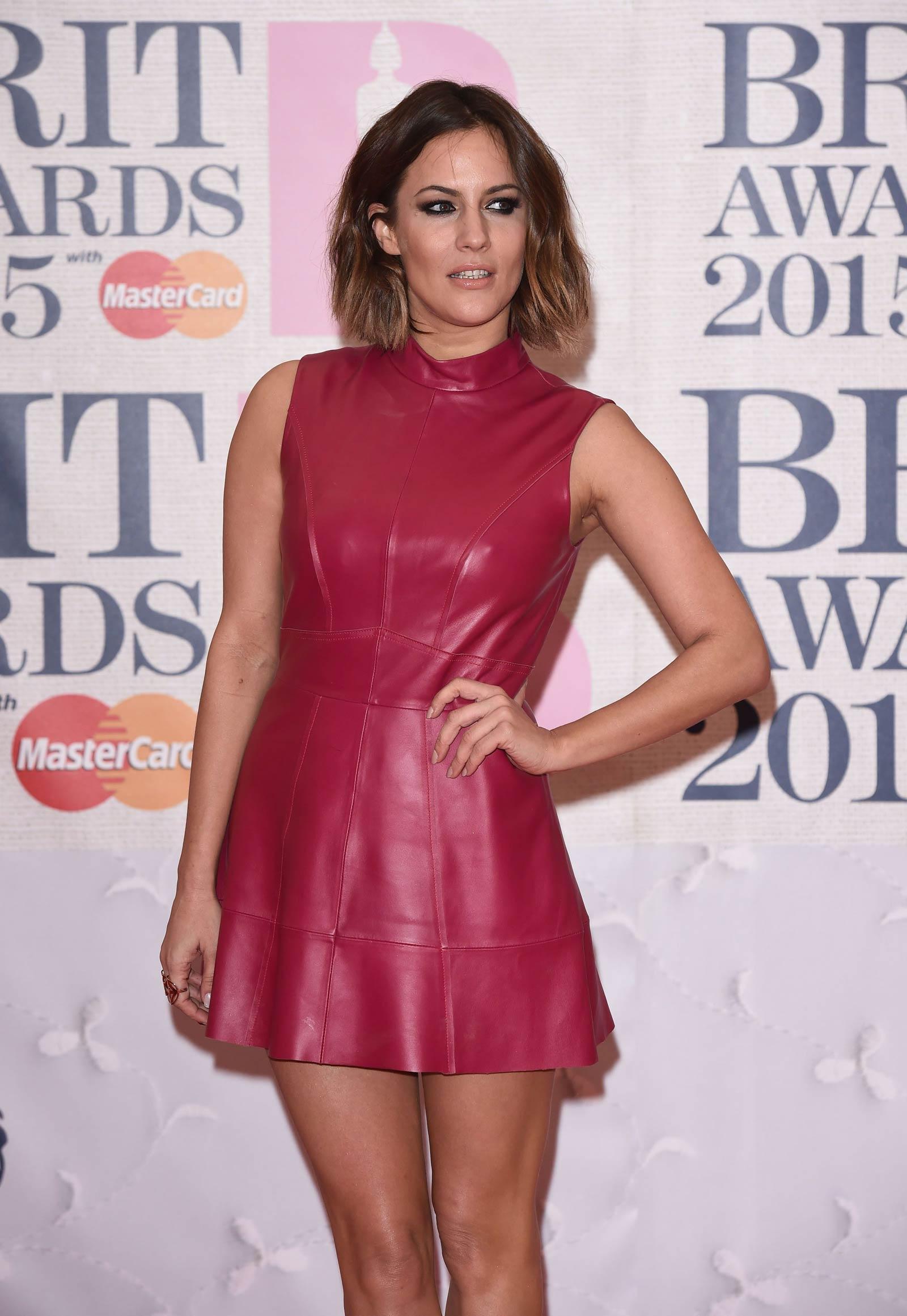 Caroline Flack attends The BRIT Awards 2015