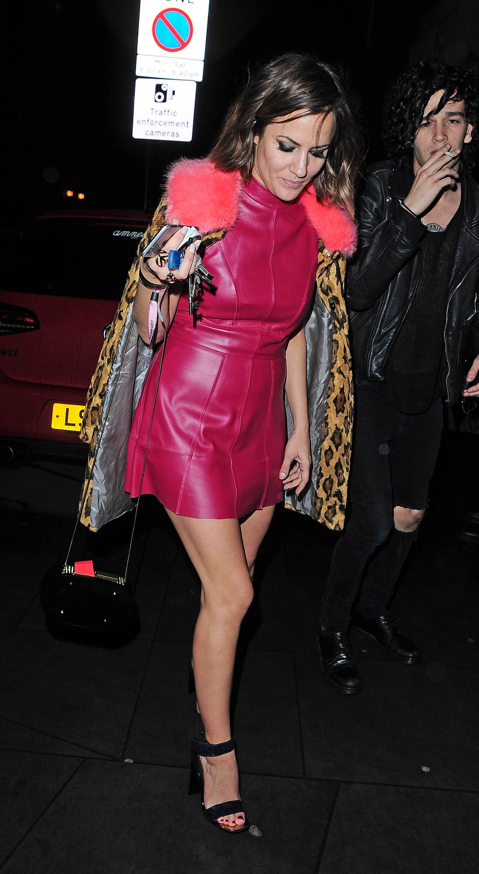 Caroline Flack attends The BRIT Awards 2015