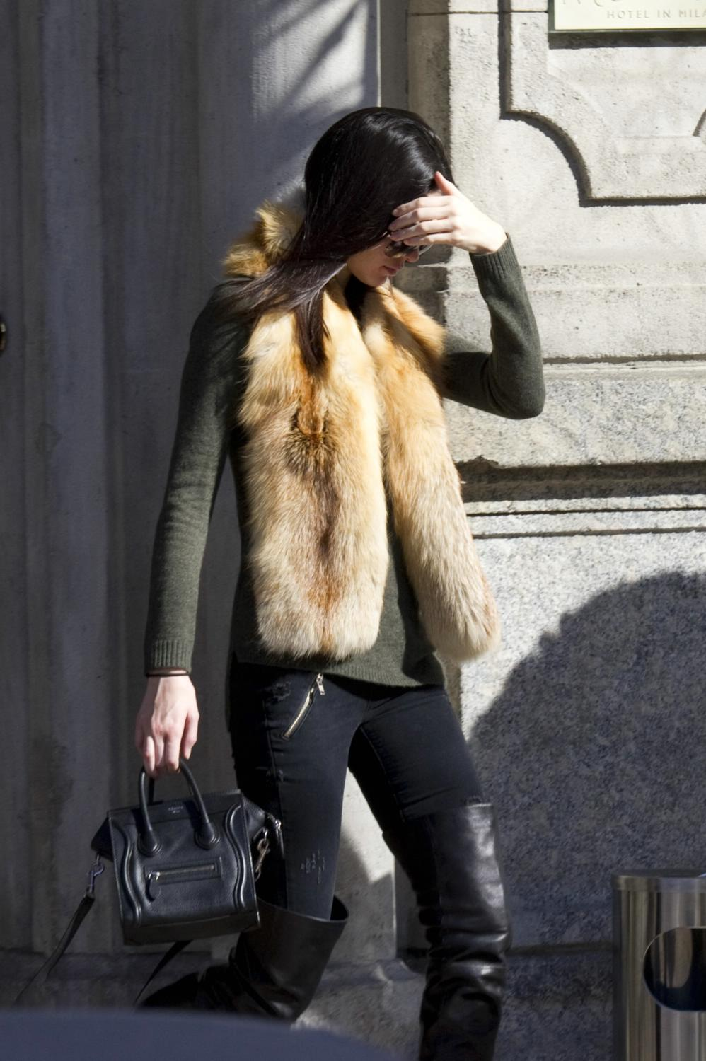 Kendall Jenner is spotted shopping in Milan