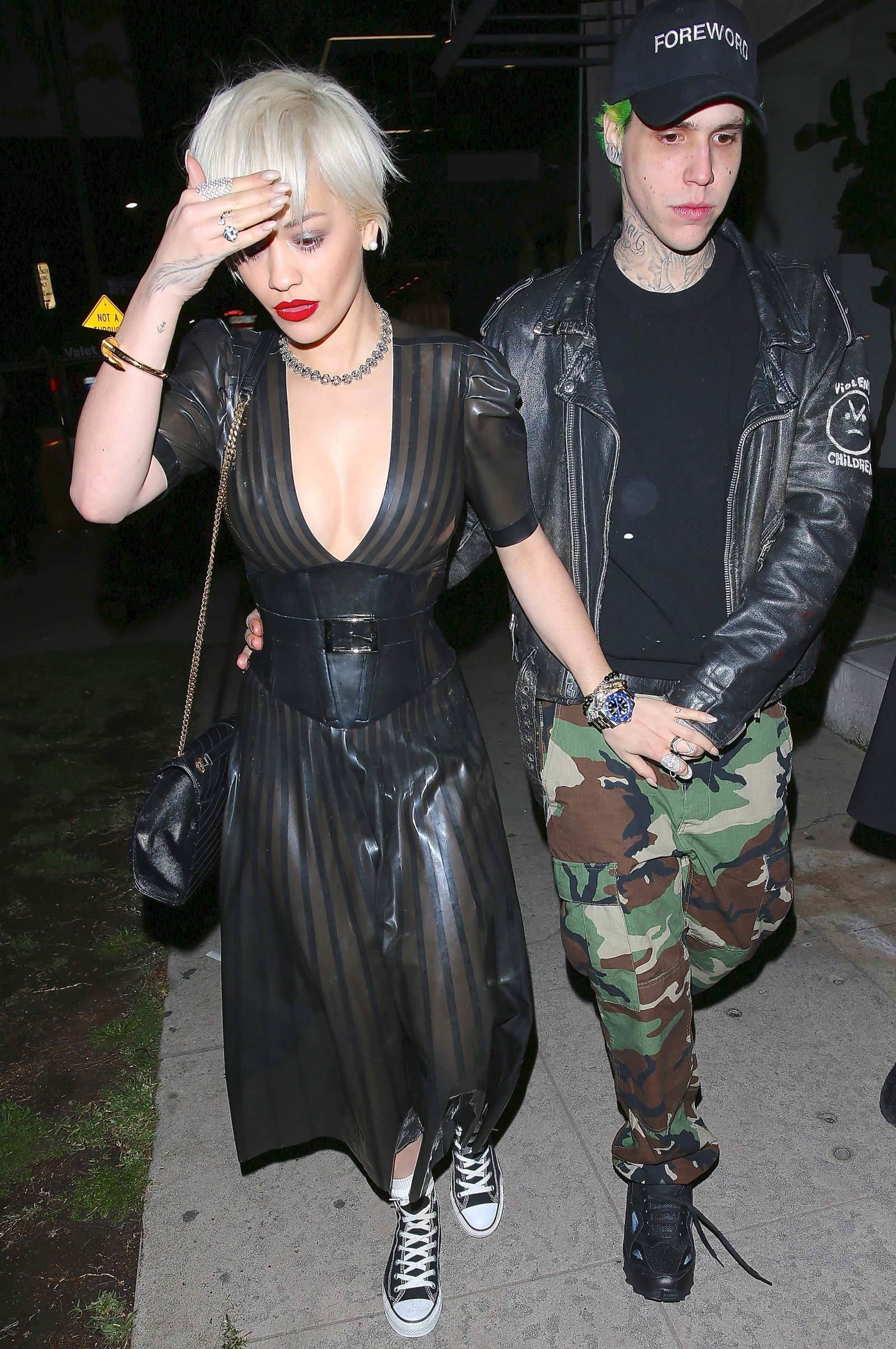Rita Ora leaving The Nice Guy in Los Angeles