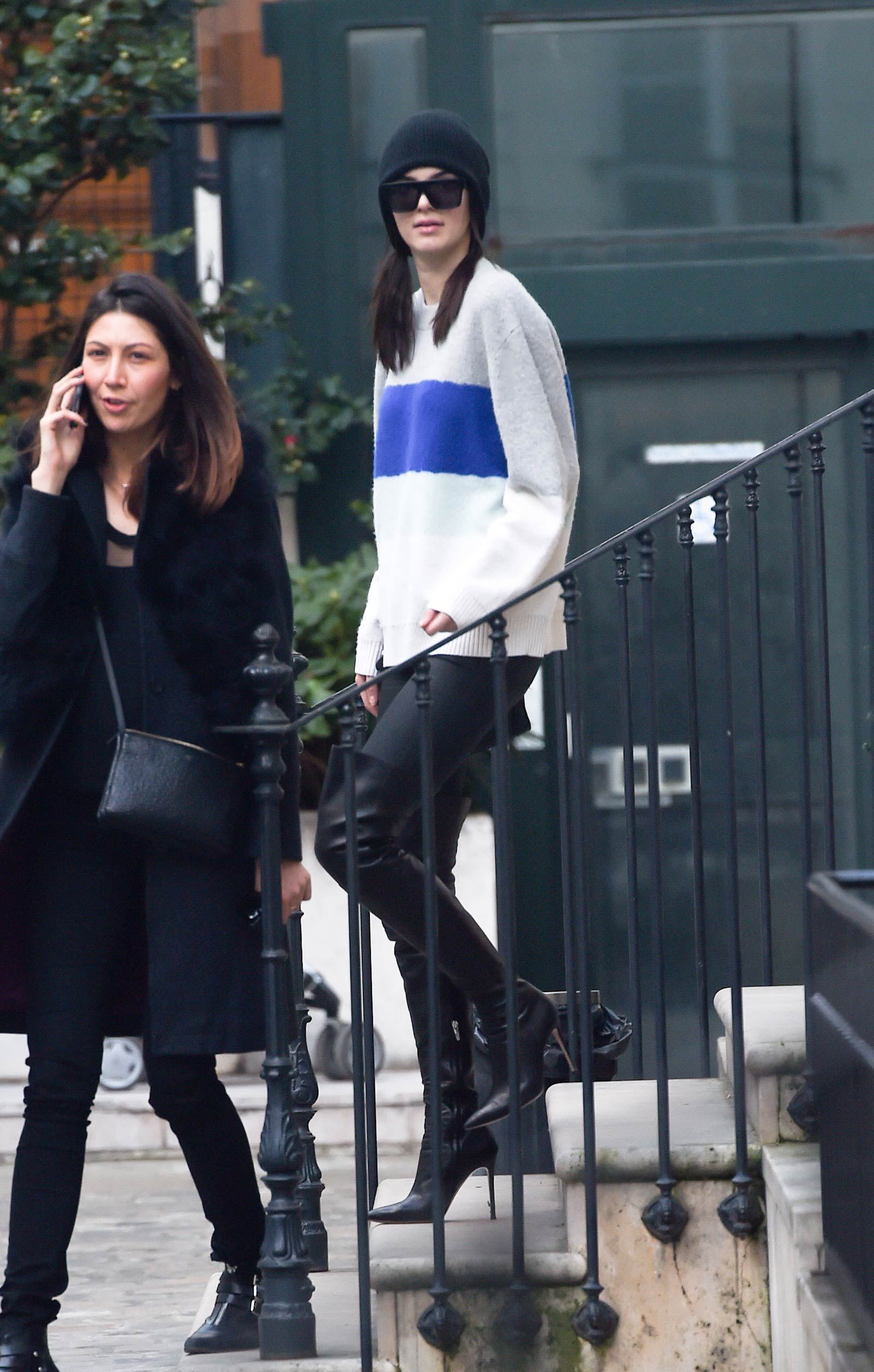Kendall Jenner at a fitting for Vivienne Westwood in Paris