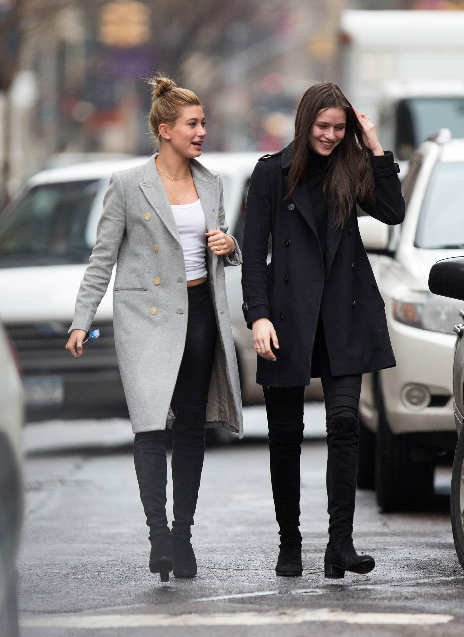 Hailey Baldwin out shopping in New York