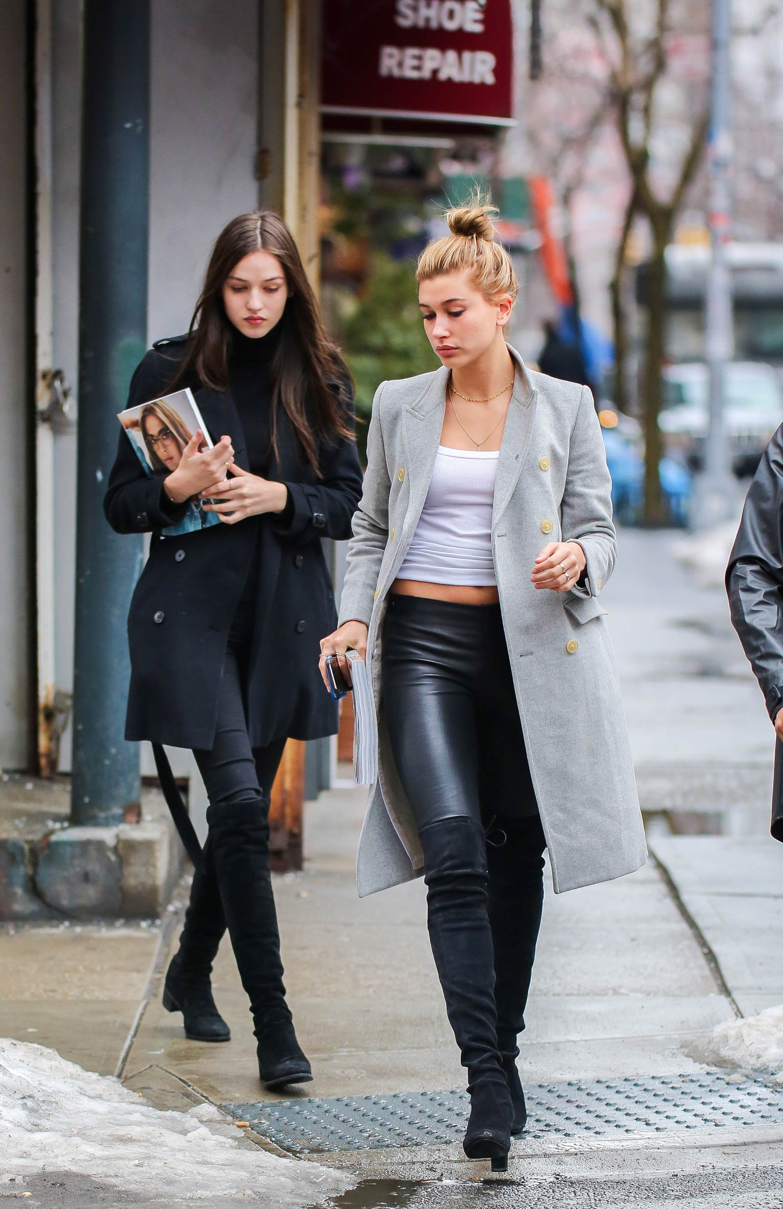 Hailey Baldwin out shopping in New York