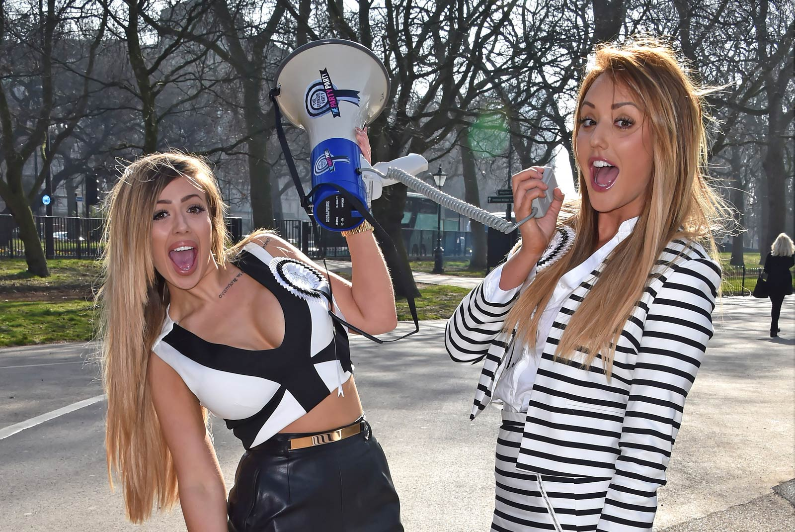 Holly Hagan attend the launch of The Geordie Party
