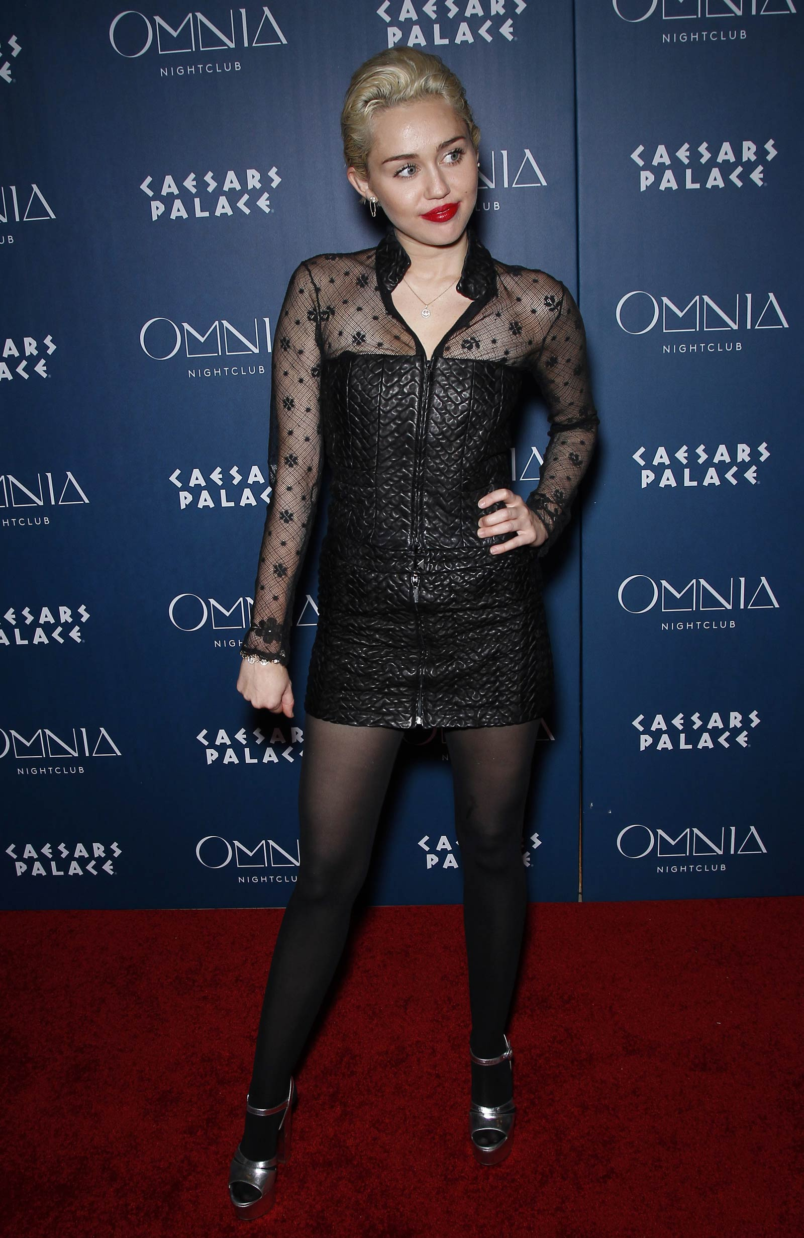 Miley Cyrus at Omnia Nightclub