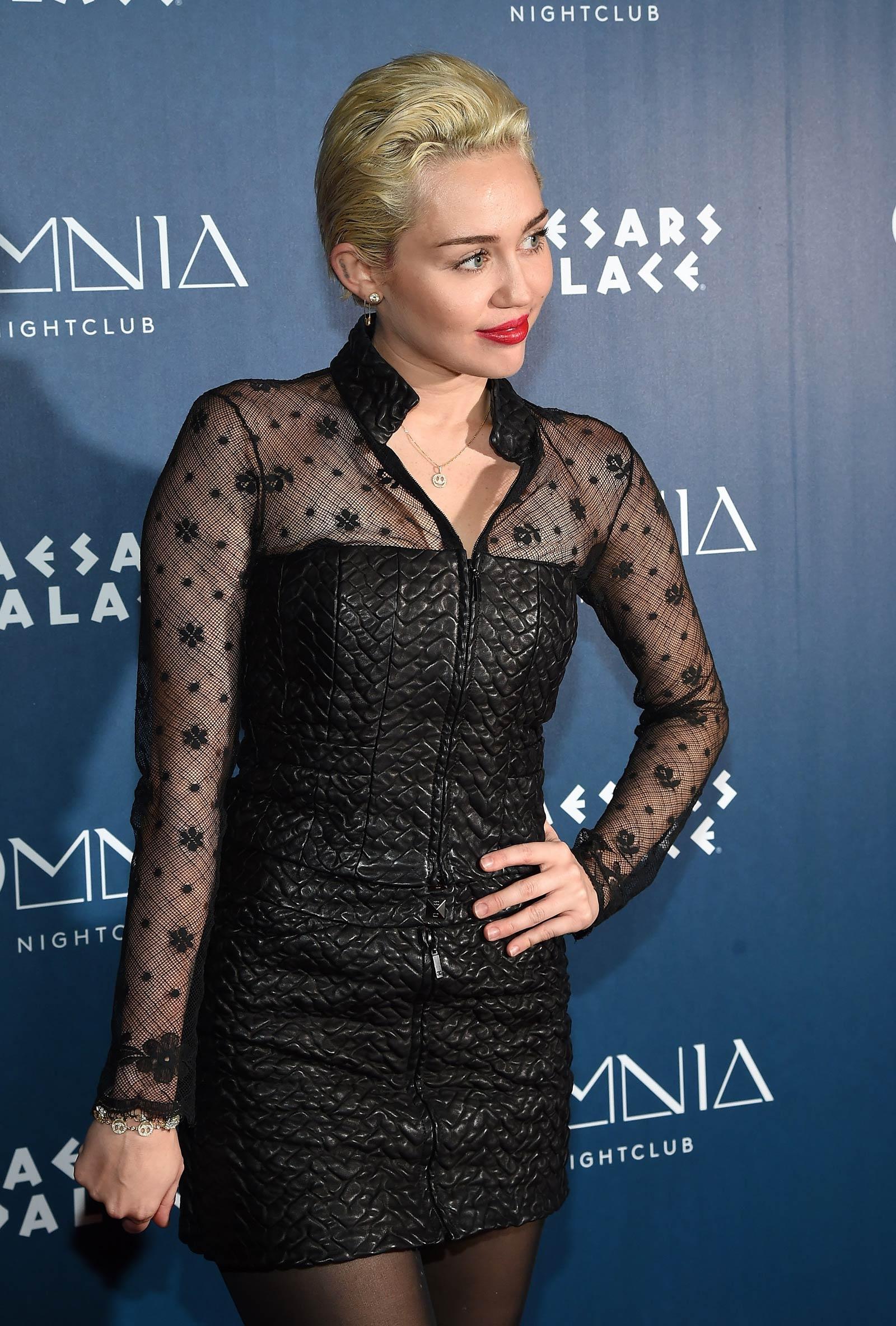 Miley Cyrus at Omnia Nightclub