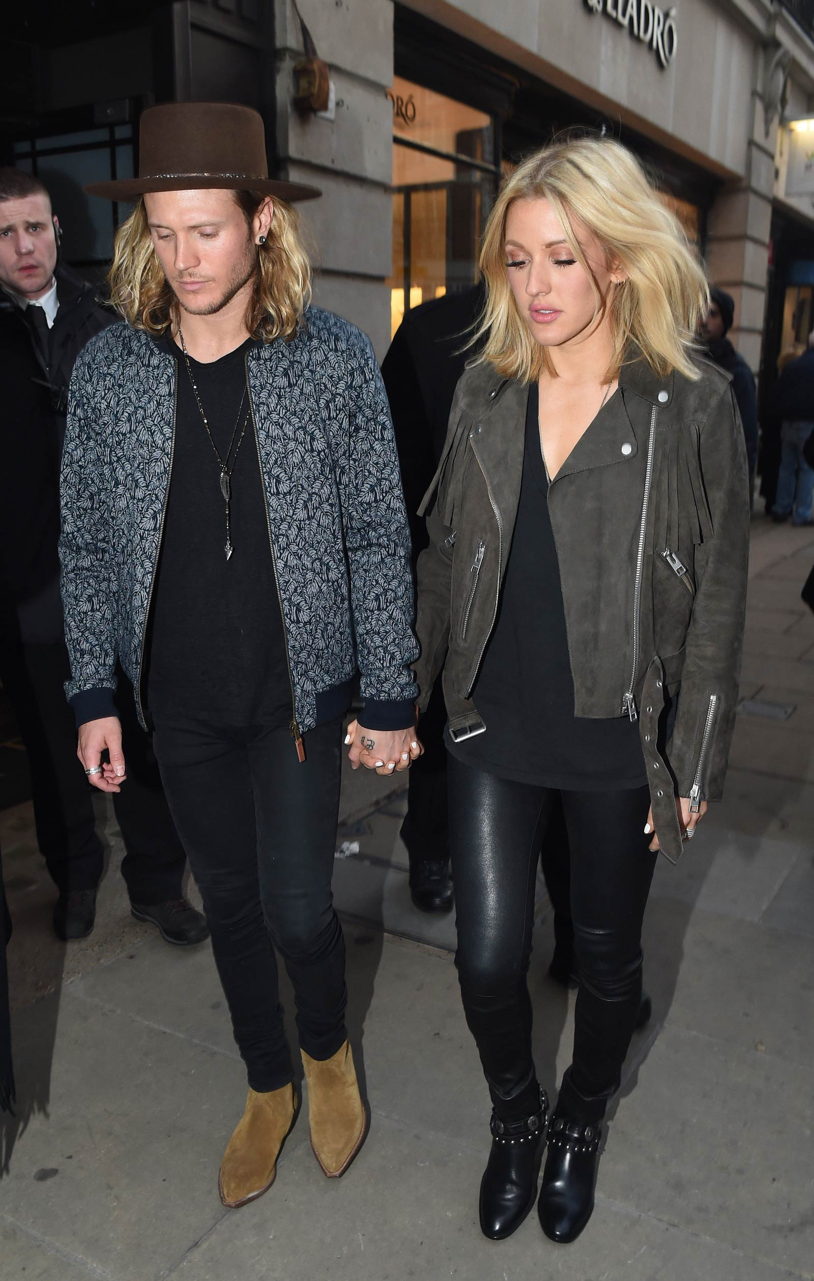 Ellie Goulding heading to a private gig in London