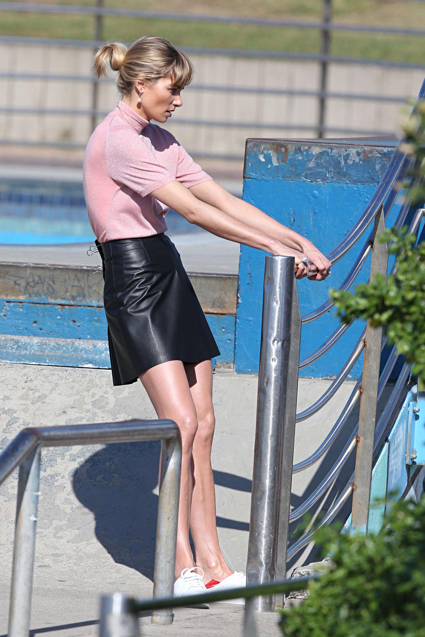 Jessica Hart photoshoot at Bondi Beach