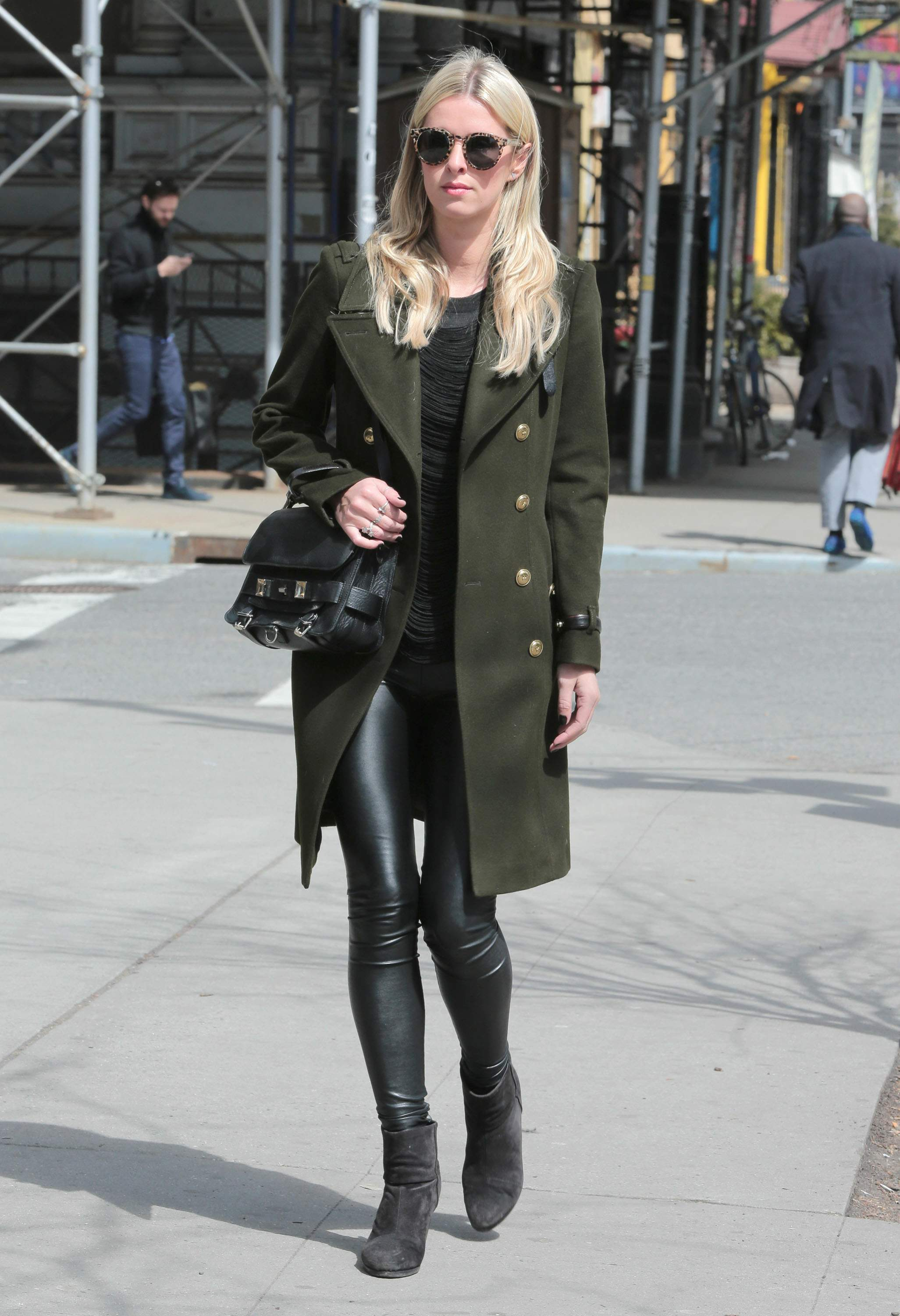 Nicky Hilton is seen in downtown Manhattan