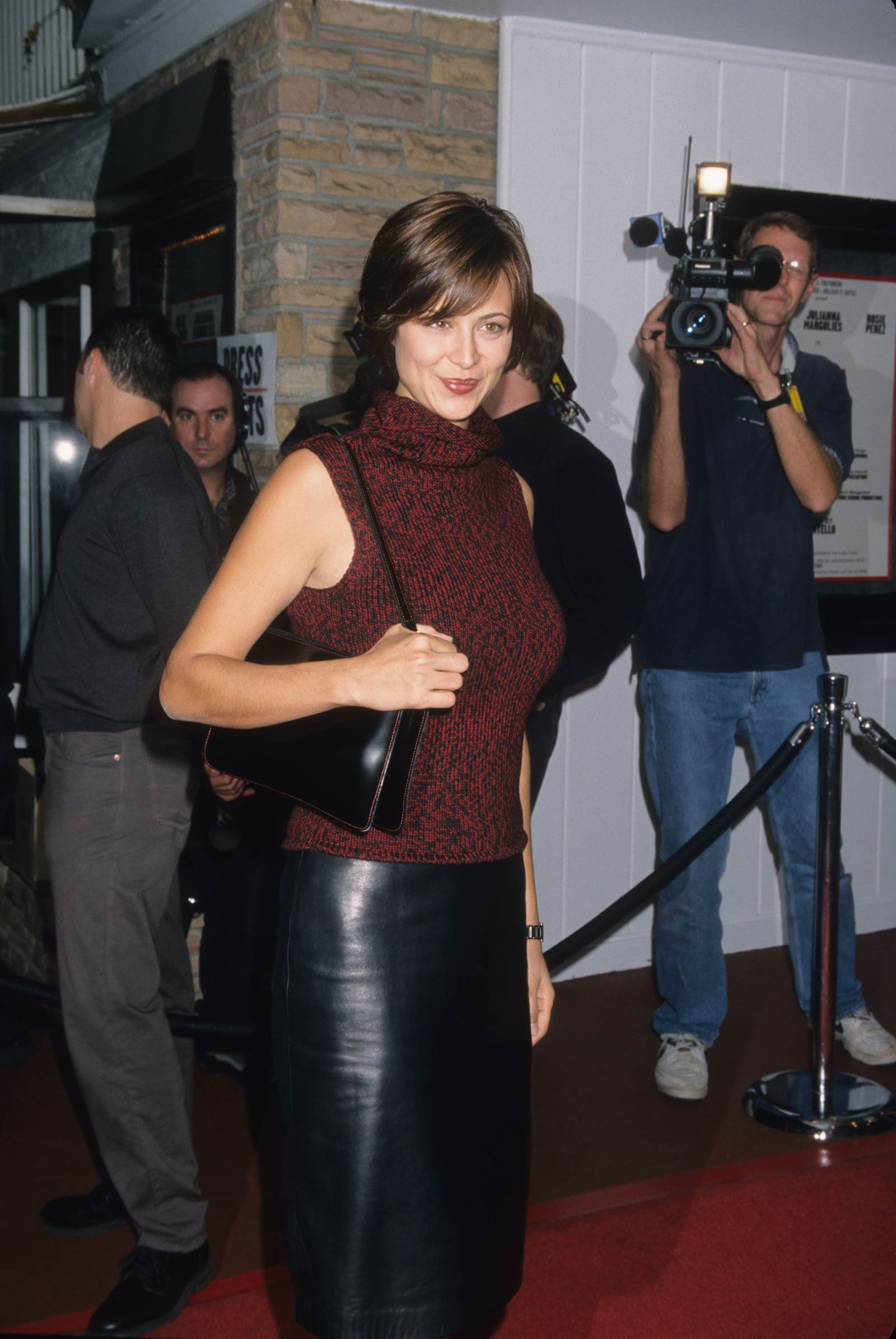 Catherine Bell at The Vagina Monologues Opening Night