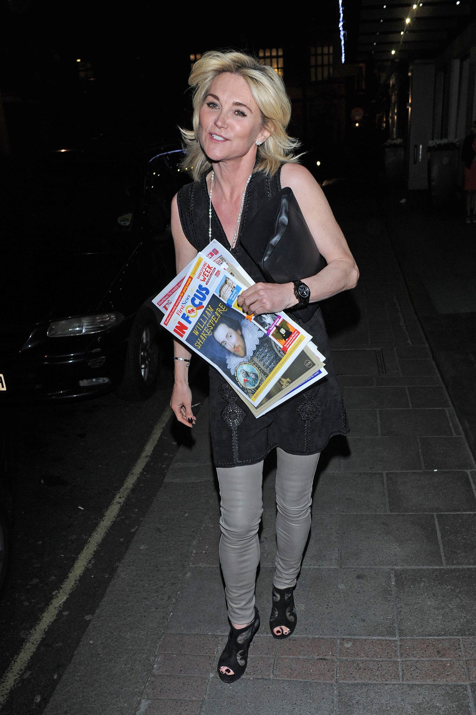 Anthea Turner leaving Children United London