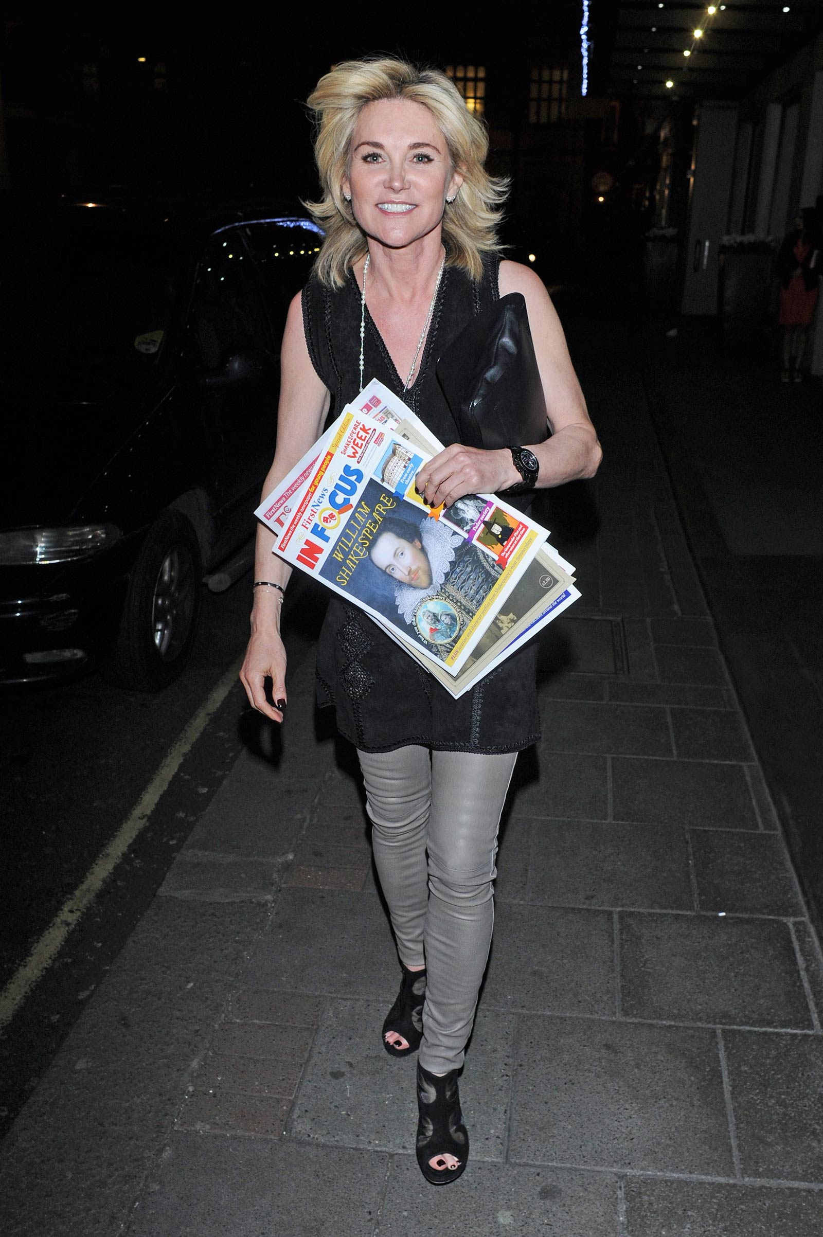 Anthea Turner leaving Children United London