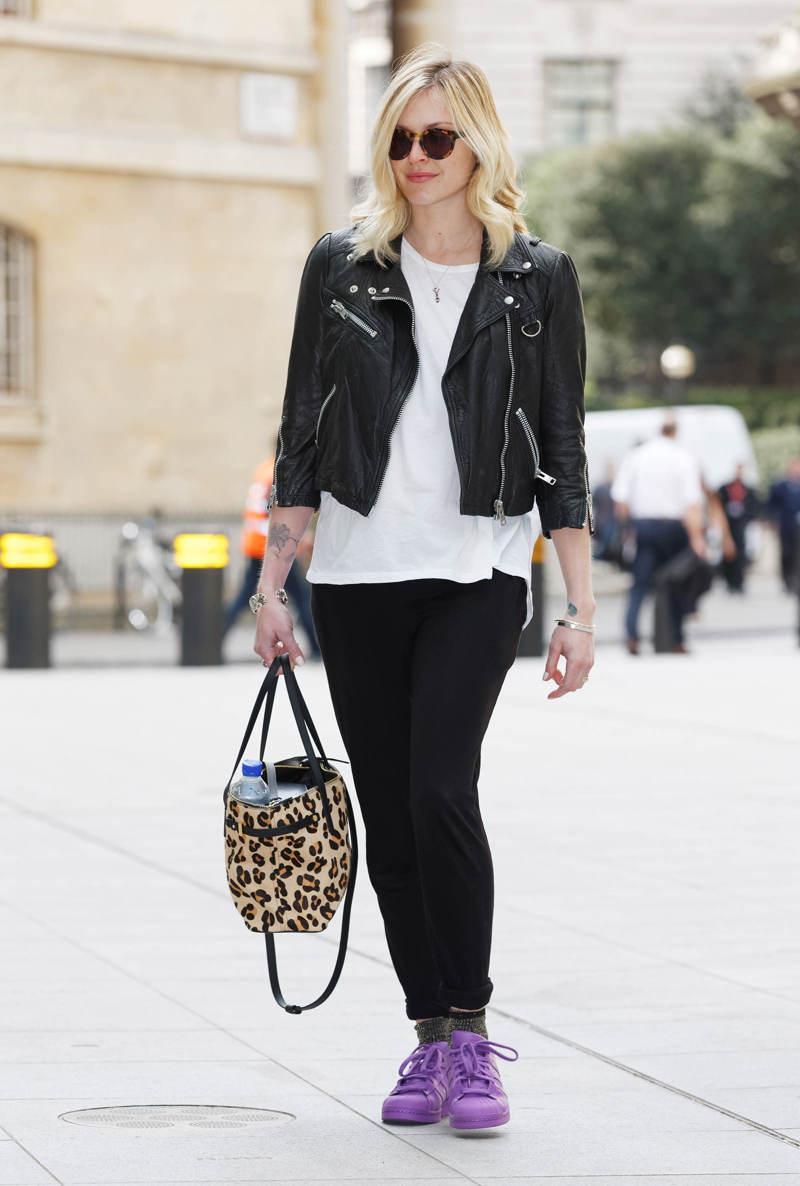 Fearne Cotton seen arriving at BBC Radio 1