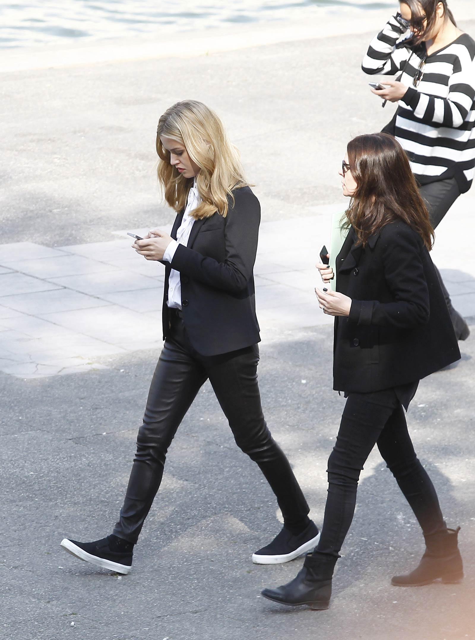 Georgia May Jagger filming an ad for Garnier
